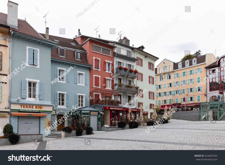 evian les bains france europe september 15 shops at evian les bains in france on september. Black Bedroom Furniture Sets. Home Design Ideas