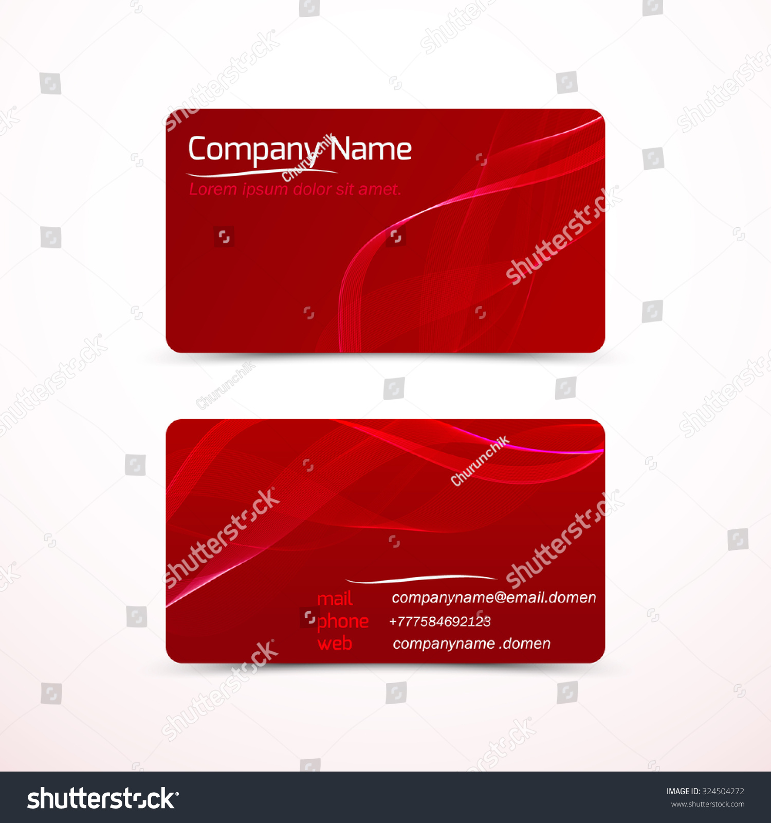 Business cards template visiting card set stock vector 324504272 business cards template or visiting card set vector illustration reheart Images