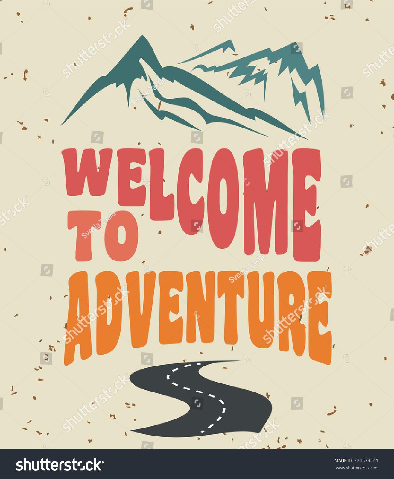 Vintage Mountain Poster