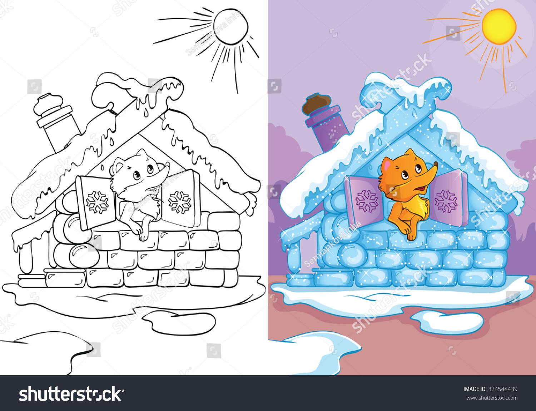 The fox had an ice hut