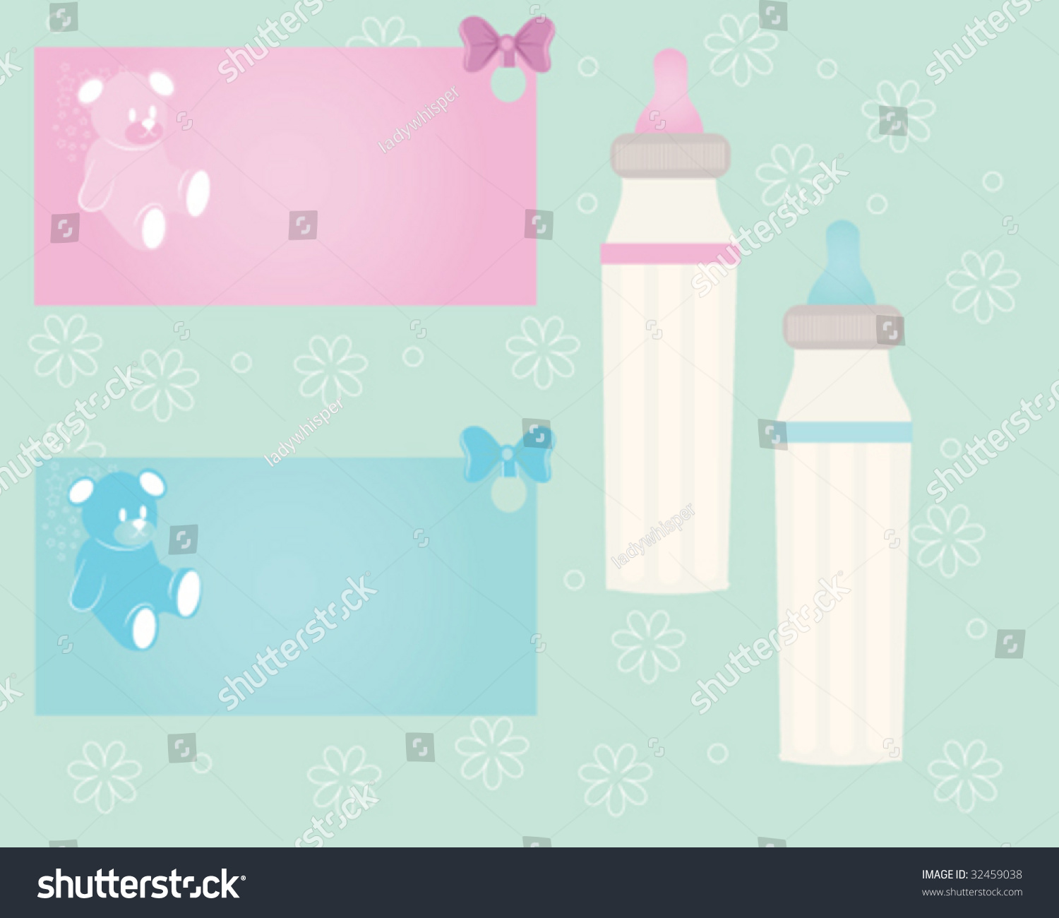 Baby Gift Vector : Baby gift tags stock vector illustration