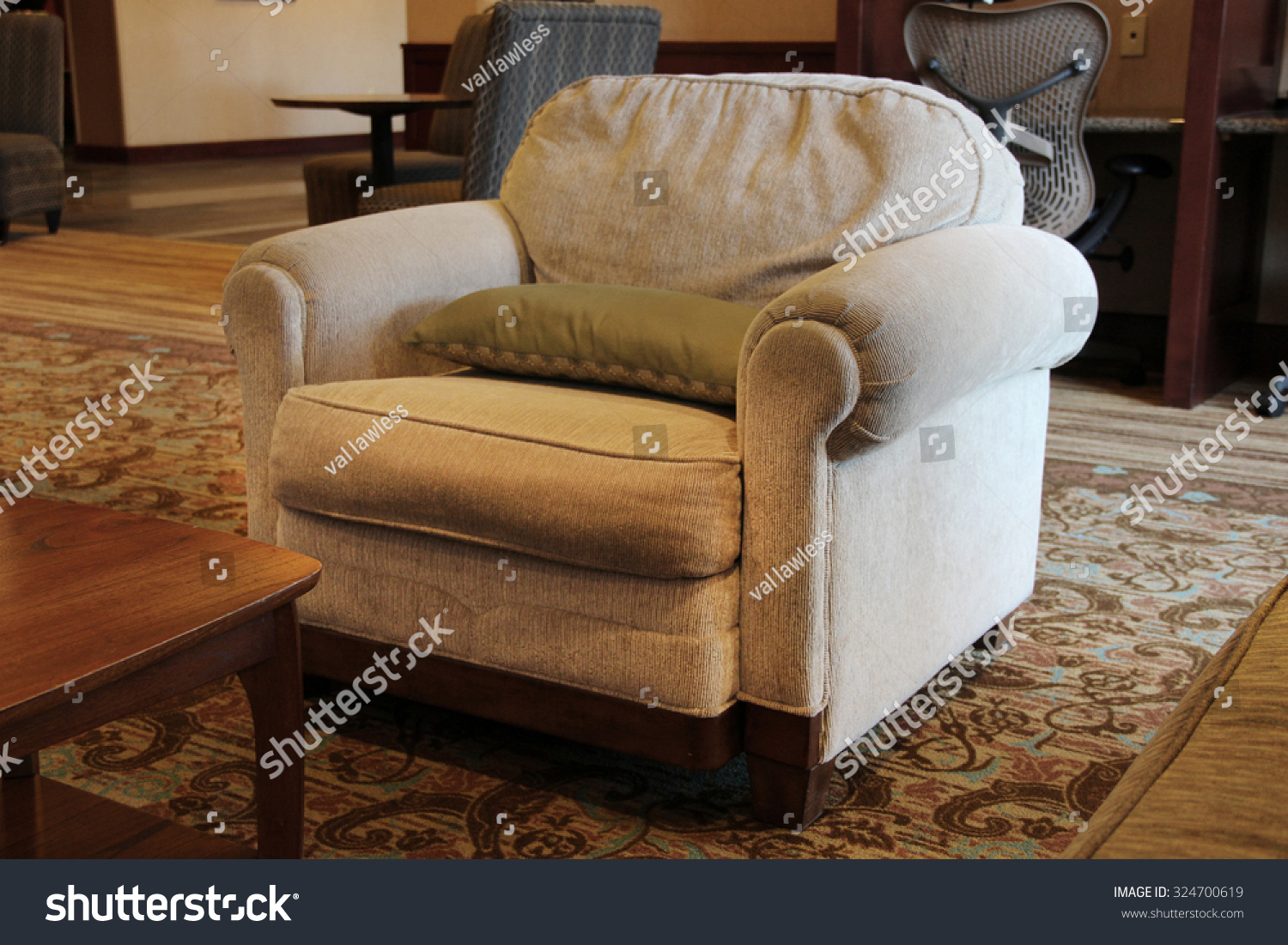 Large overstuffed armchair stock photo 324700619 for Overstuffed armchair