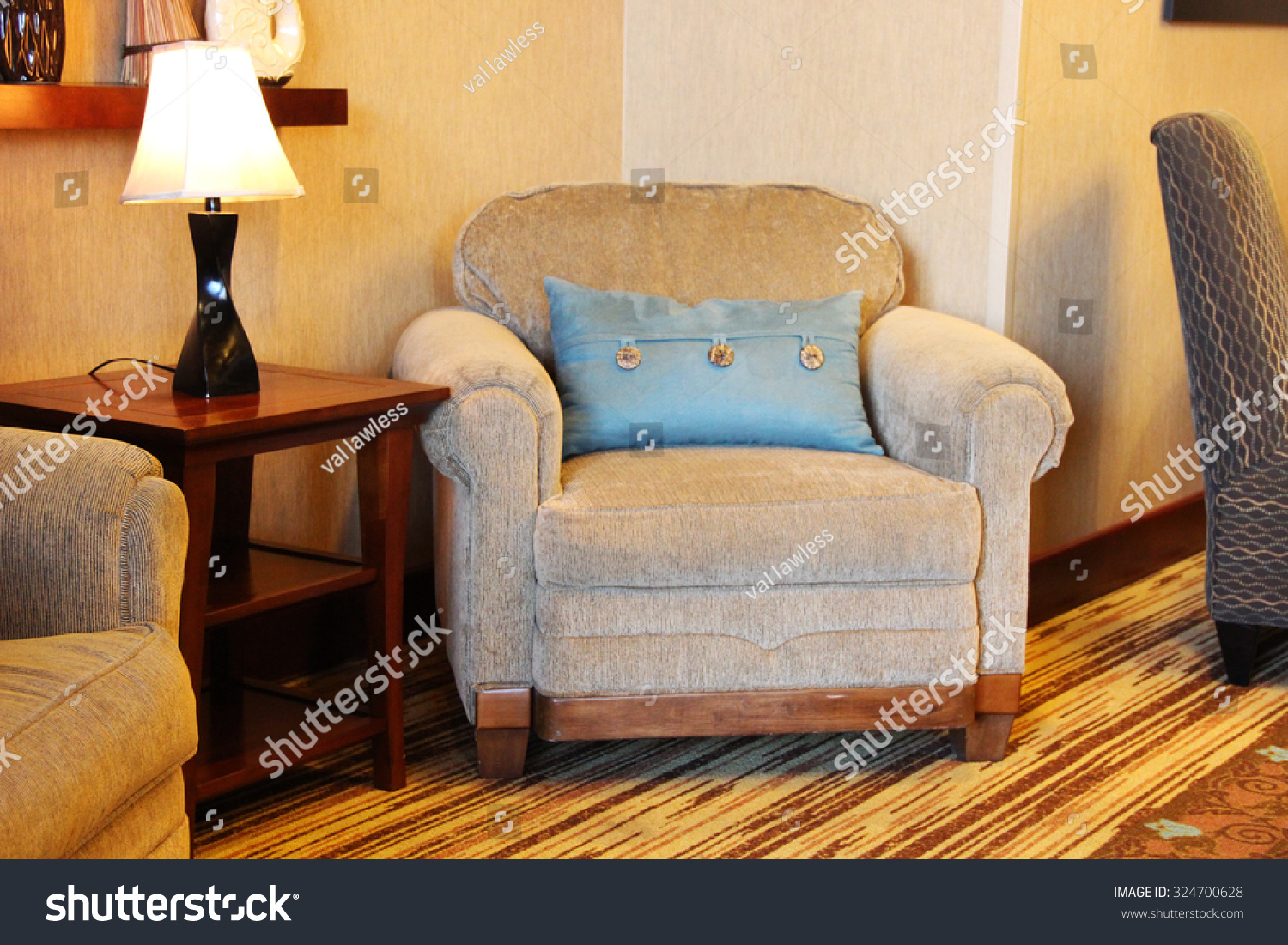 Large overstuffed armchair stock photo 324700628 for Overstuffed armchair