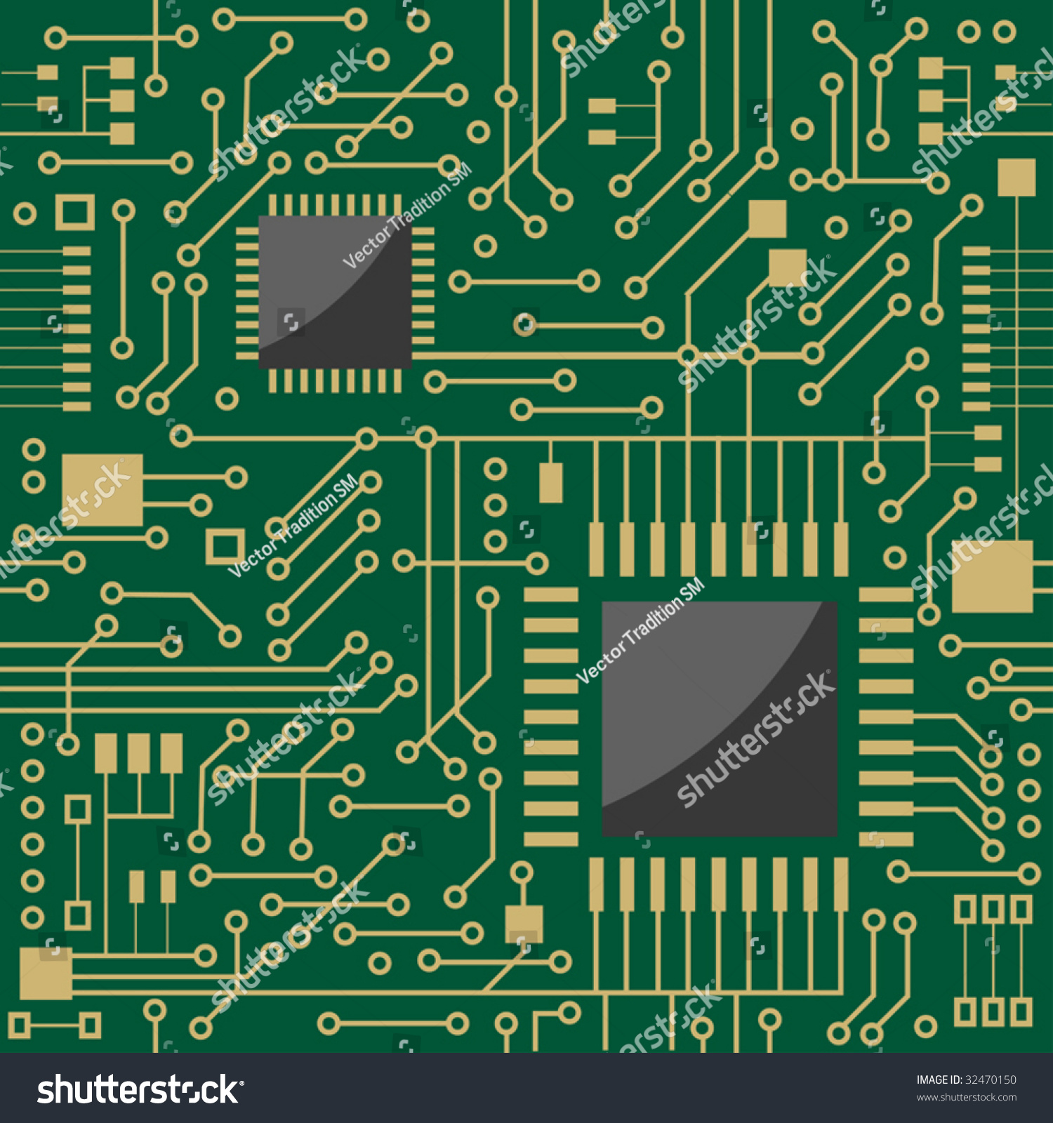 Seamless Background Showing Schematic Diagram Electronic Stock Pcb Circuit A For An Board Or Motherboard