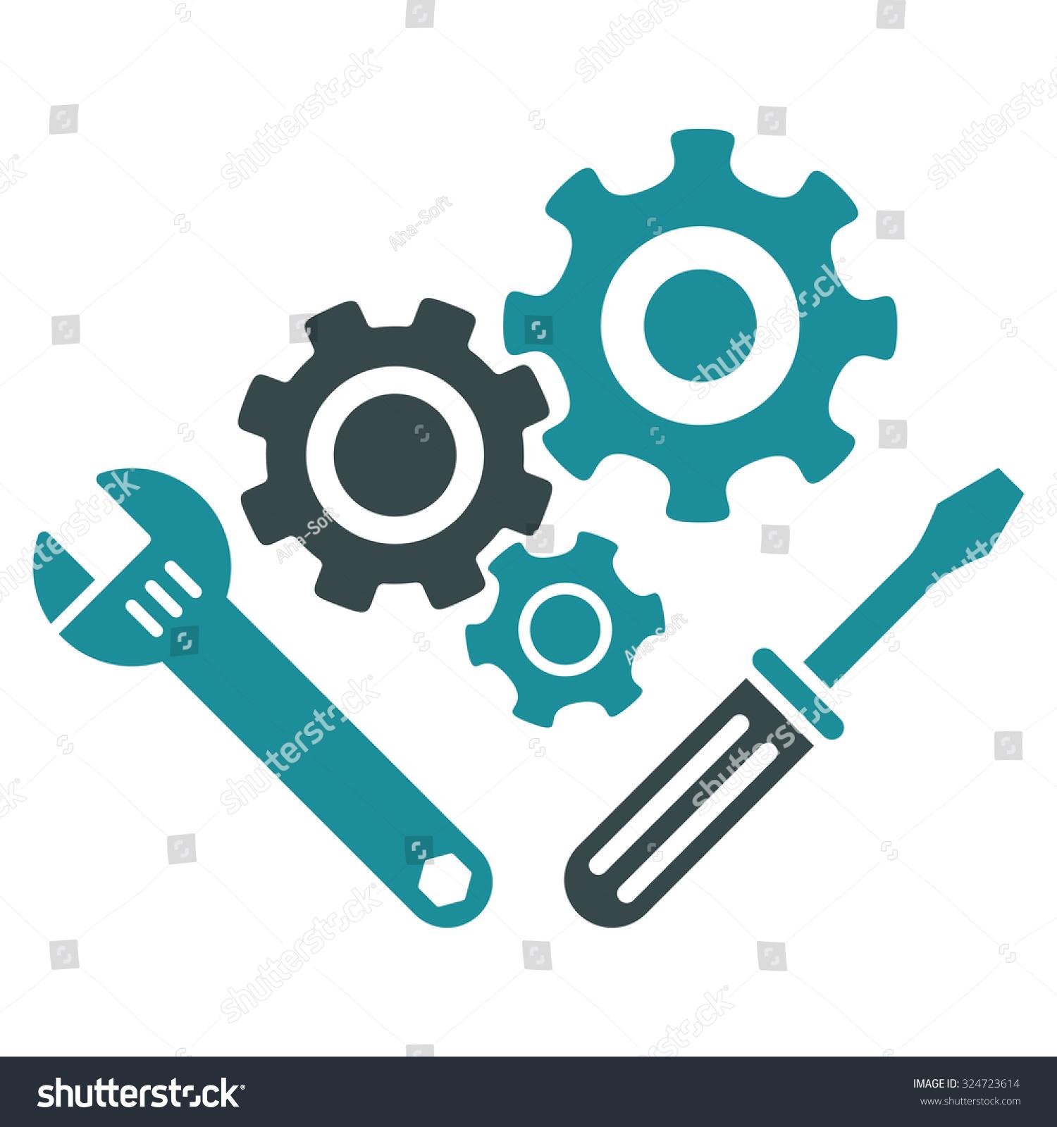 Mechanics Tools Vector Icon Style Bicolor Stock Vector 324723614 ...