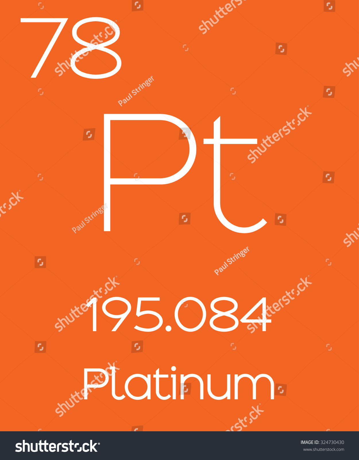 model of and platinum detailed atomic large element vector