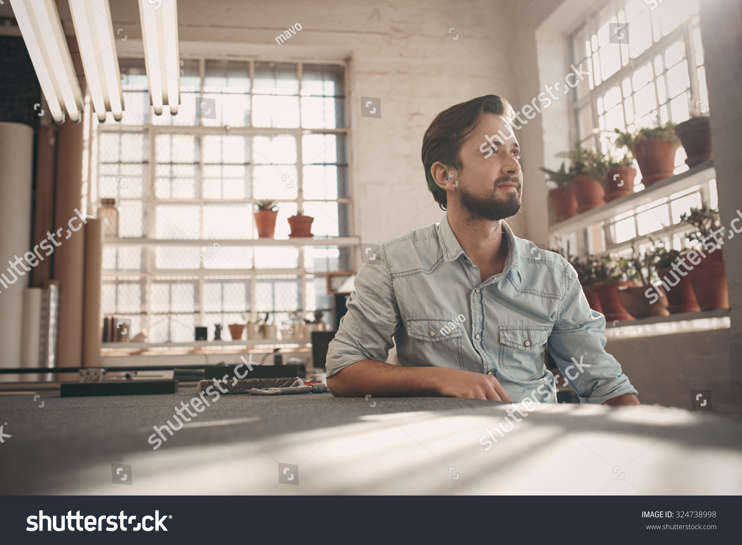 Handsome Young Male Small Business Owner Stock Photo ...