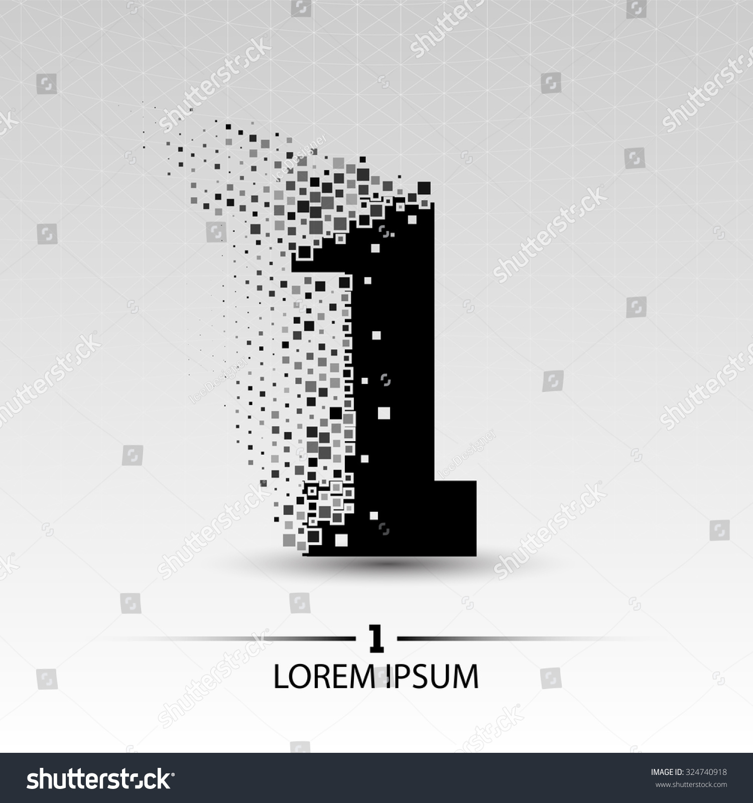 Number one logo vector design illustration stock vektor for Blueprint number