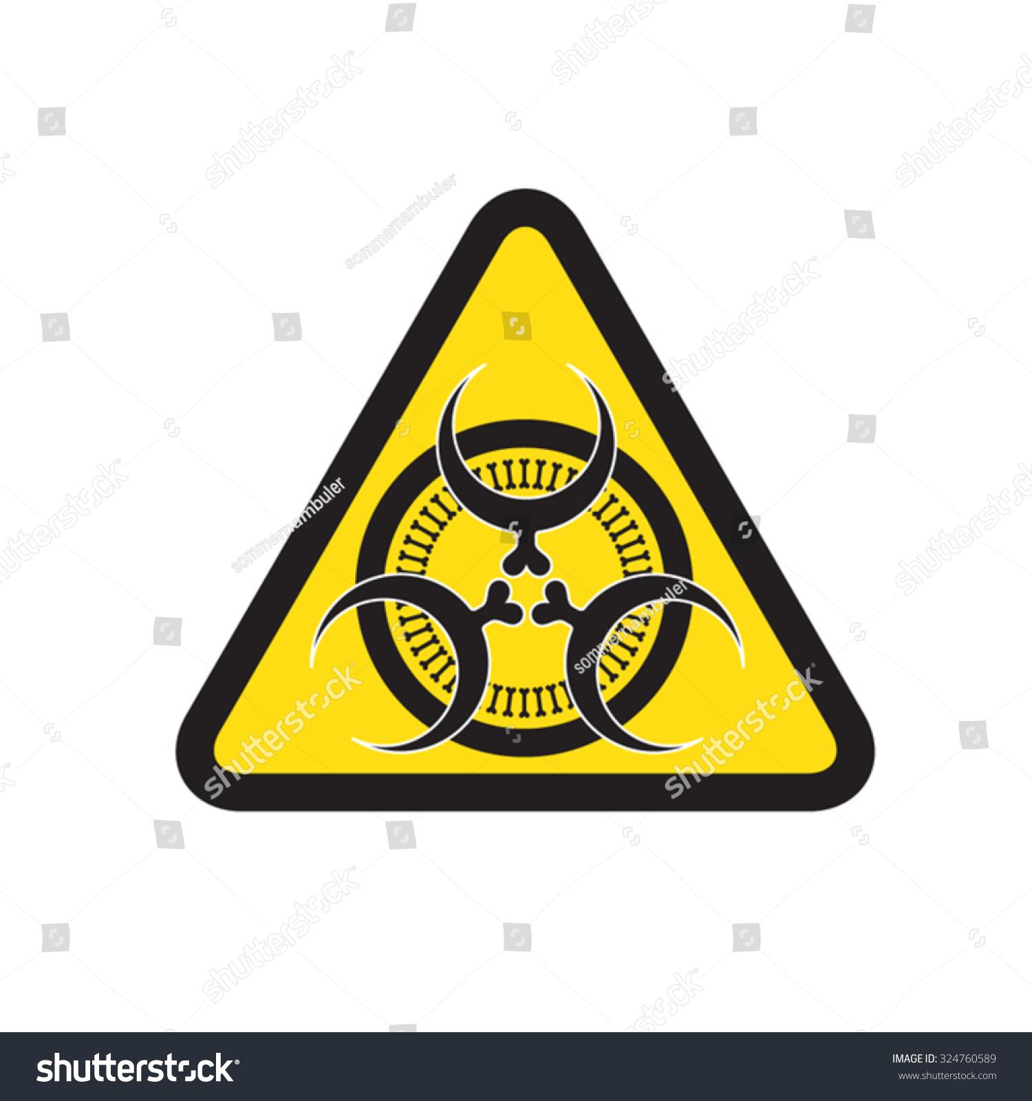 Triangle black yellow biological hazard symbol stock vector triangle black and yellow biological hazard symbol biocorpaavc Images