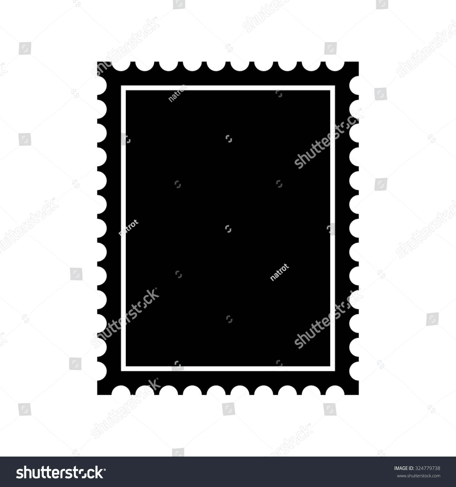 Postage Stamp Icon - Vector - 324779738 : Shutterstock