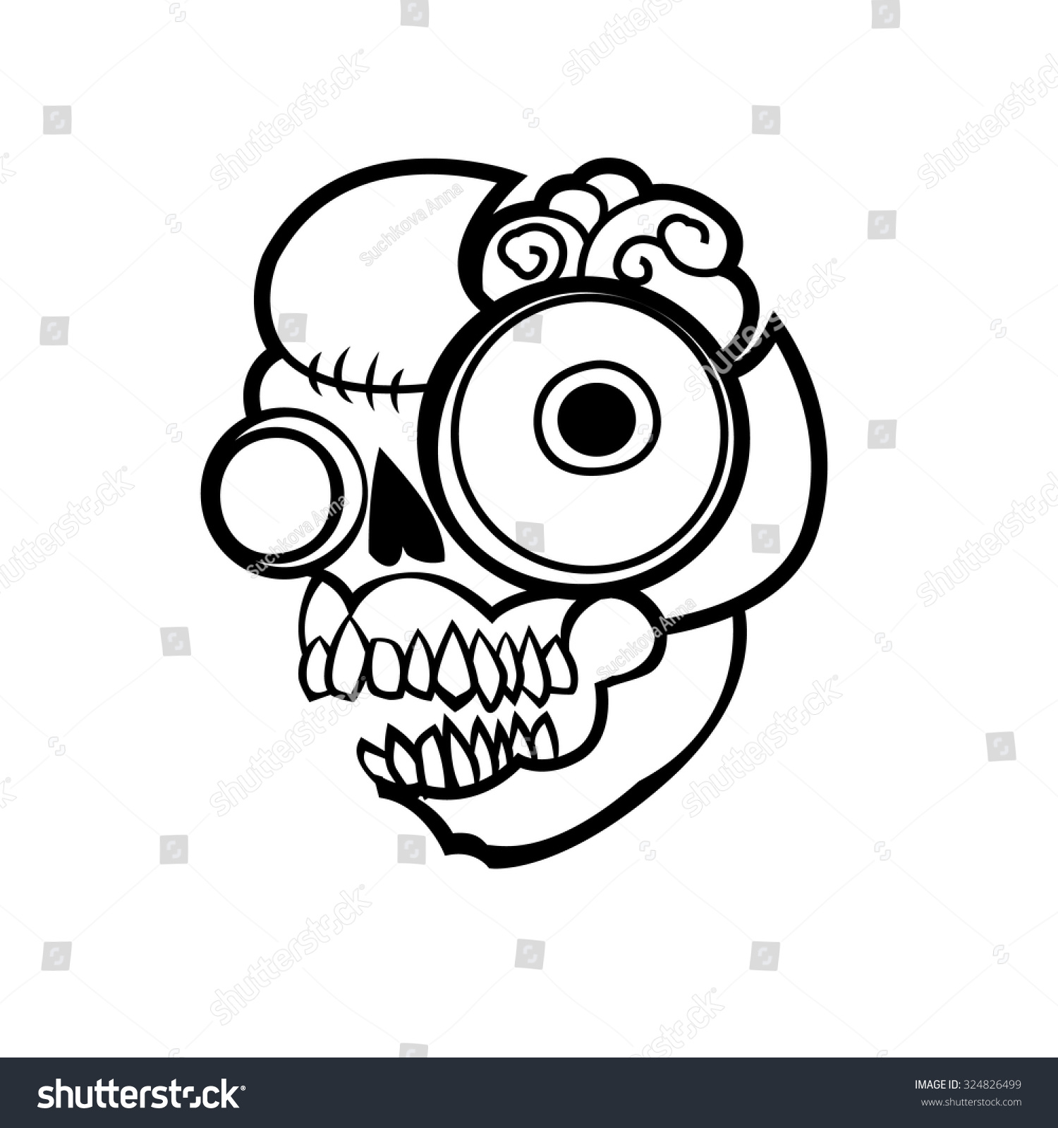 Uncategorized Simple Zombie Drawing cartoon simple zombie head vector illustration stock halloween art