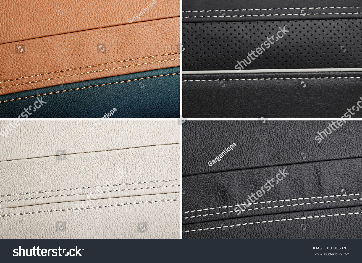 Collage Different Choice Car Interior Leather Stock Photo 324850706 Shutterstock