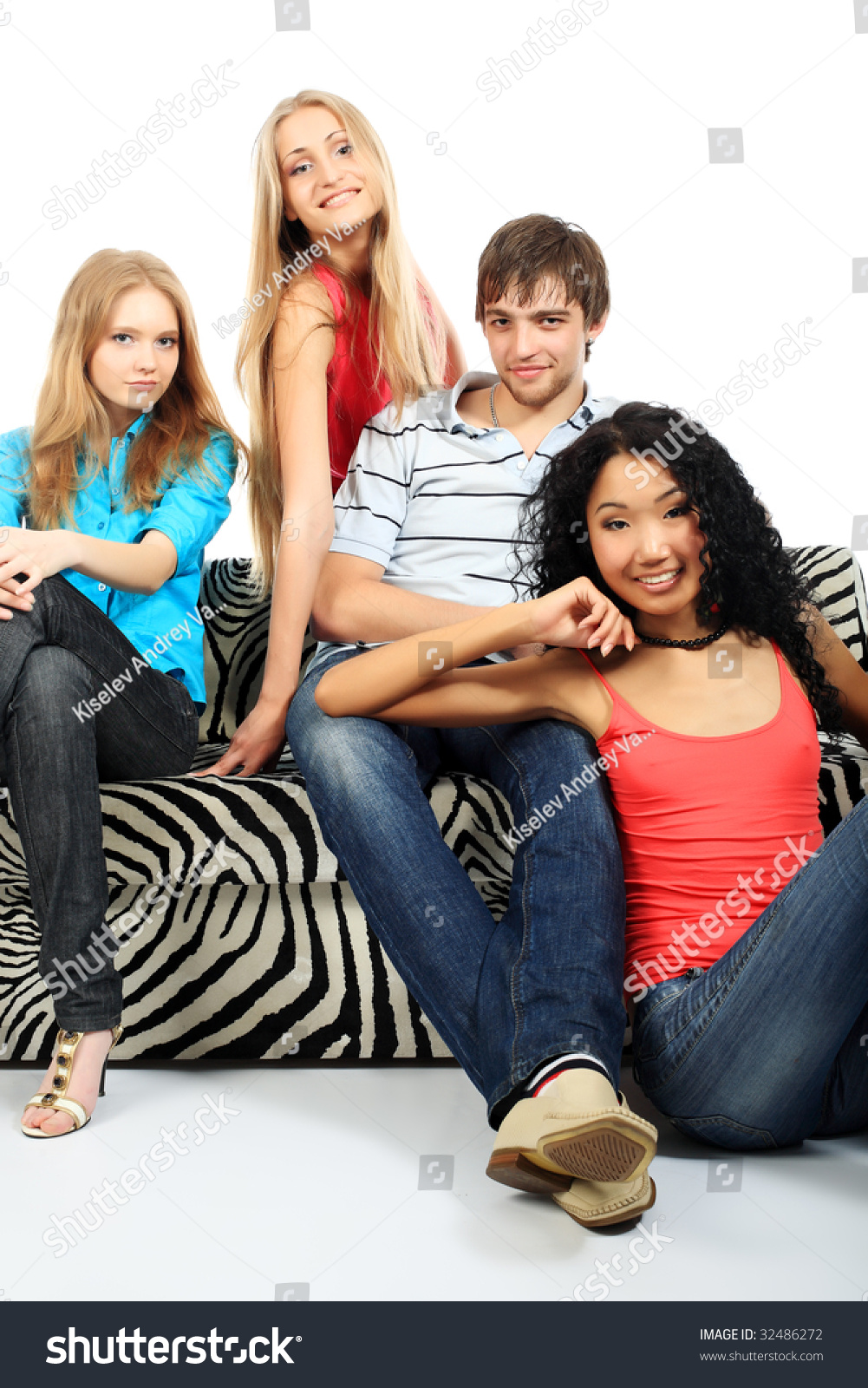 Group Of A Stylish Young People Fashion Beauty Holidays Stock Photo 32486272 Shutterstock