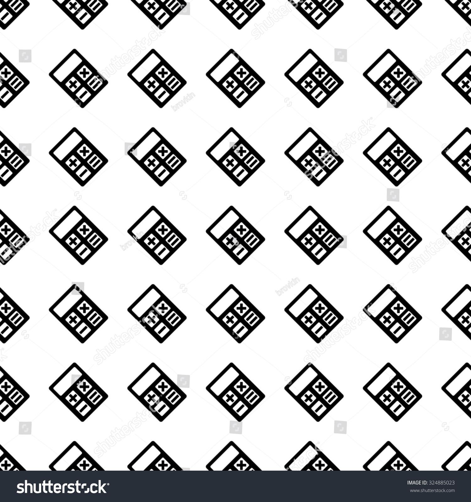 Calculator Icon Seamless Pattern Tiling Ornament Stock Illustration ...