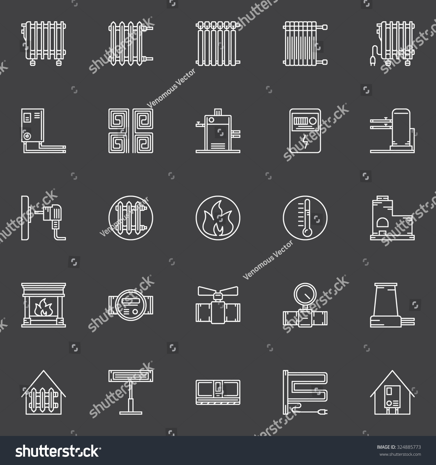 showing post media for heating furnace symbol symbolsnet com heating furnace symbol stock vector heating icons vector set of linear home heating symbols furnaces