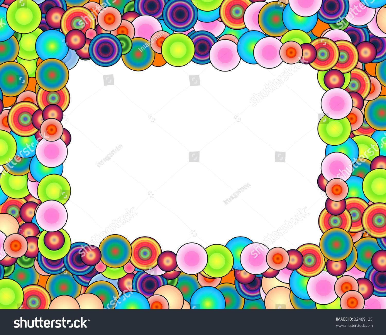 Bubble Rainbow Frame Stock Illustration 32489125 - Shutterstock
