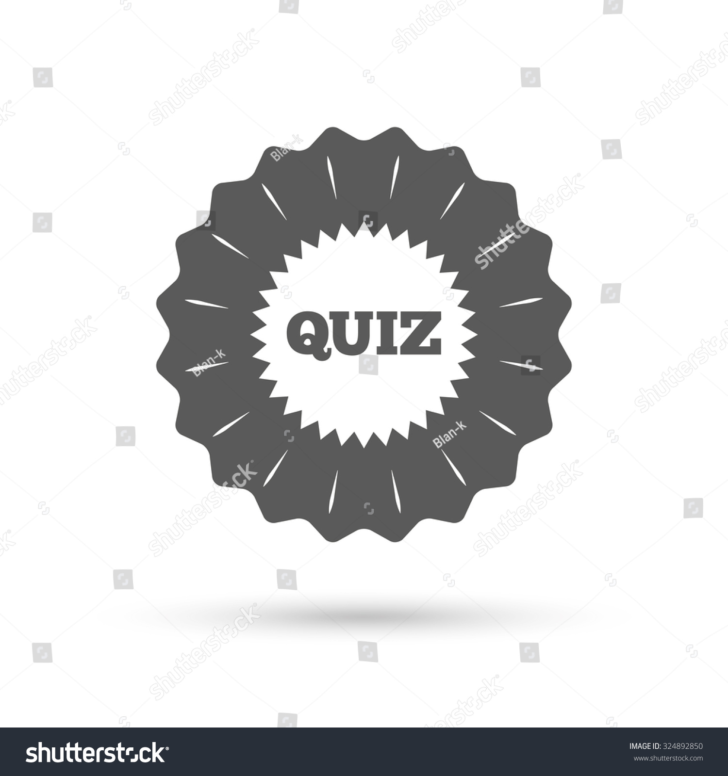 vintage emblem medal quiz star sign stock vector  quiz star sign icon questions and answers game symbol classic