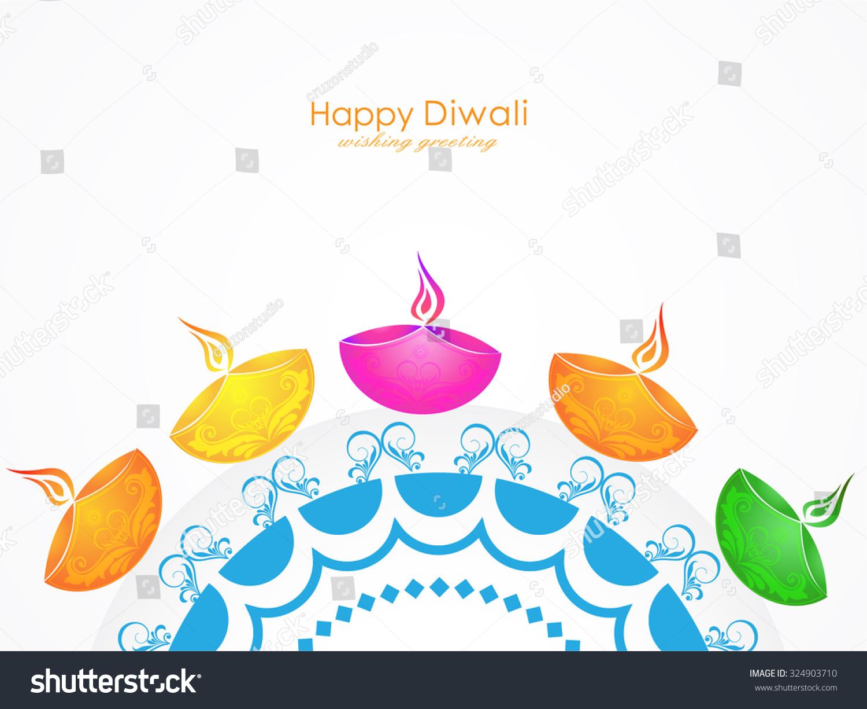 Vector illustration greeting card design diwali stock vector vector illustration or greeting card design for diwali festival with beautiful diwali elements m4hsunfo
