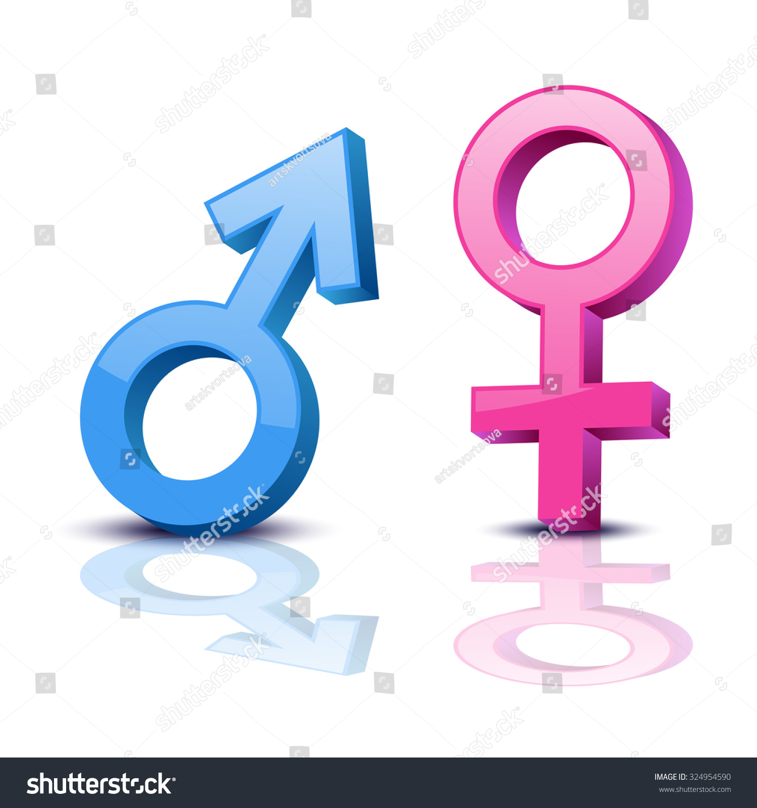 Sex Symbol Gender Man Woman Symbol Stock Vector Royalty Free