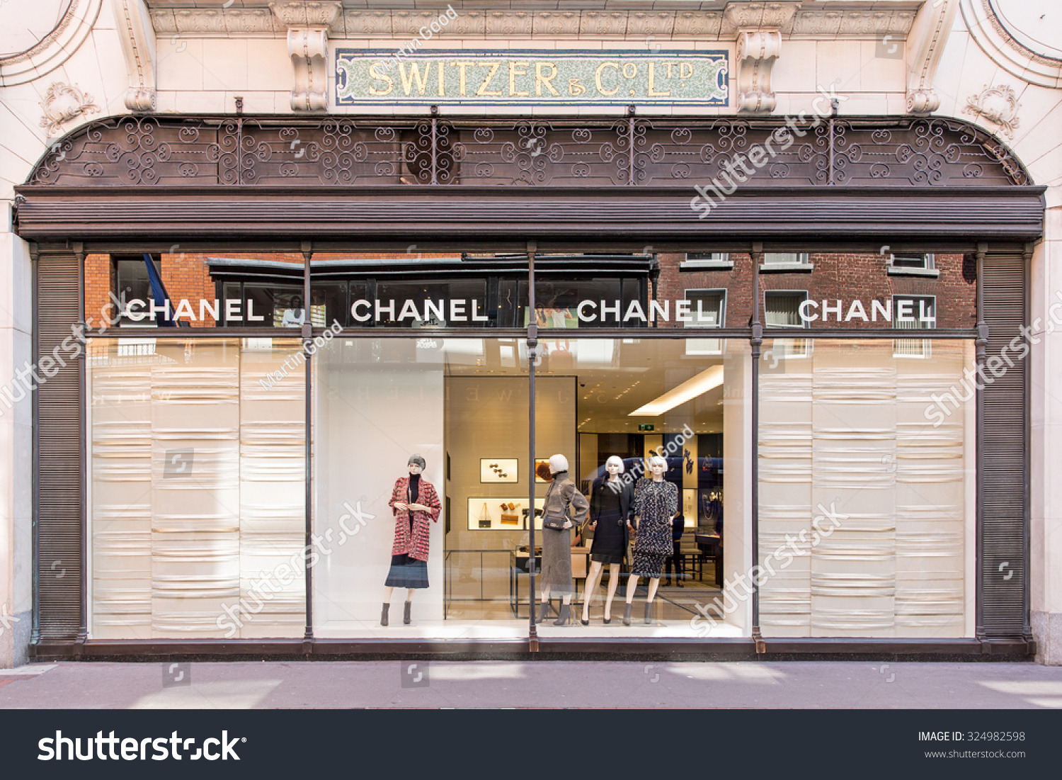 chanel outlet. dublin, ireland - august 13, 2015: a chanel outlet. worldwide, chanel outlet u