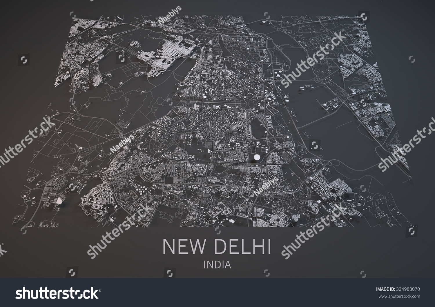 Map new delhi india satellite view stock illustration 324988070 map of new delhi india satellite view map in 3d gumiabroncs Image collections