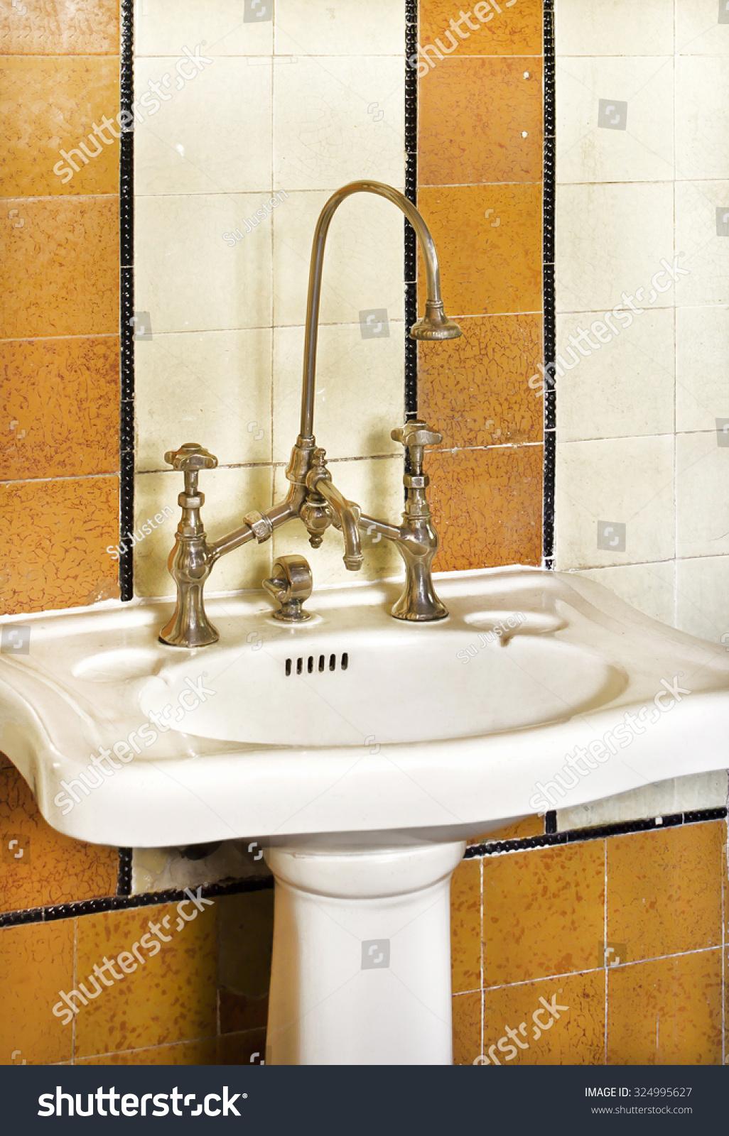 Sink Hygiene Old Taps Vintage Stock Photo 324995627 - Shutterstock