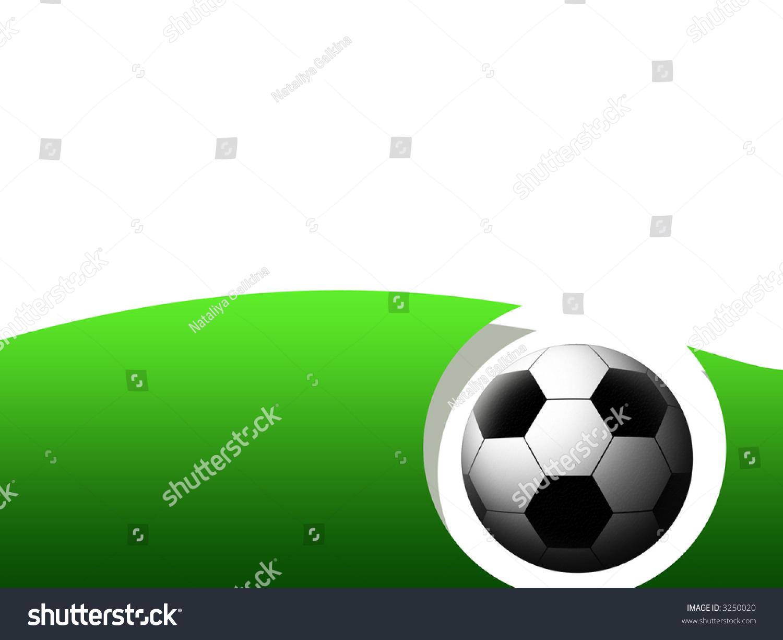 Abstract Soccer Frame Soccer Ball Stock Illustration 3250020 ...