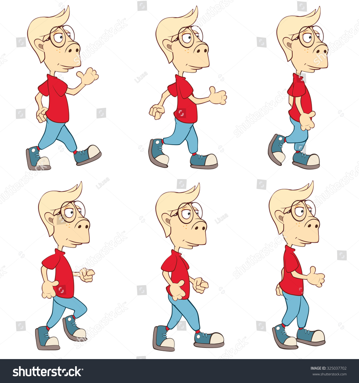 Character Cute Cartoon Boy Computer Game Stock Vector 325037702 ...