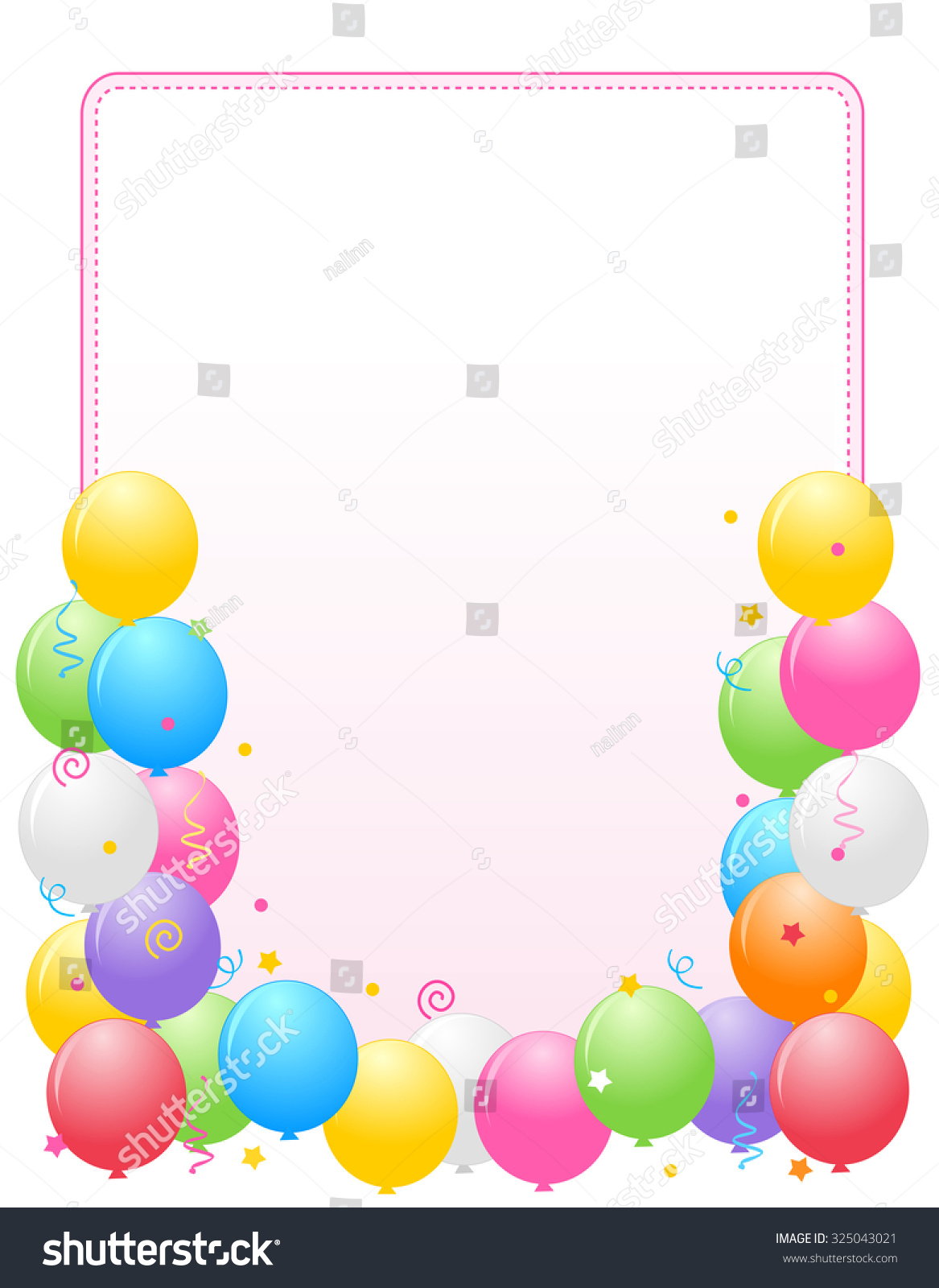 Colorful Balloons Border Frame Illustration Birthday – Birthday Cards Backgrounds