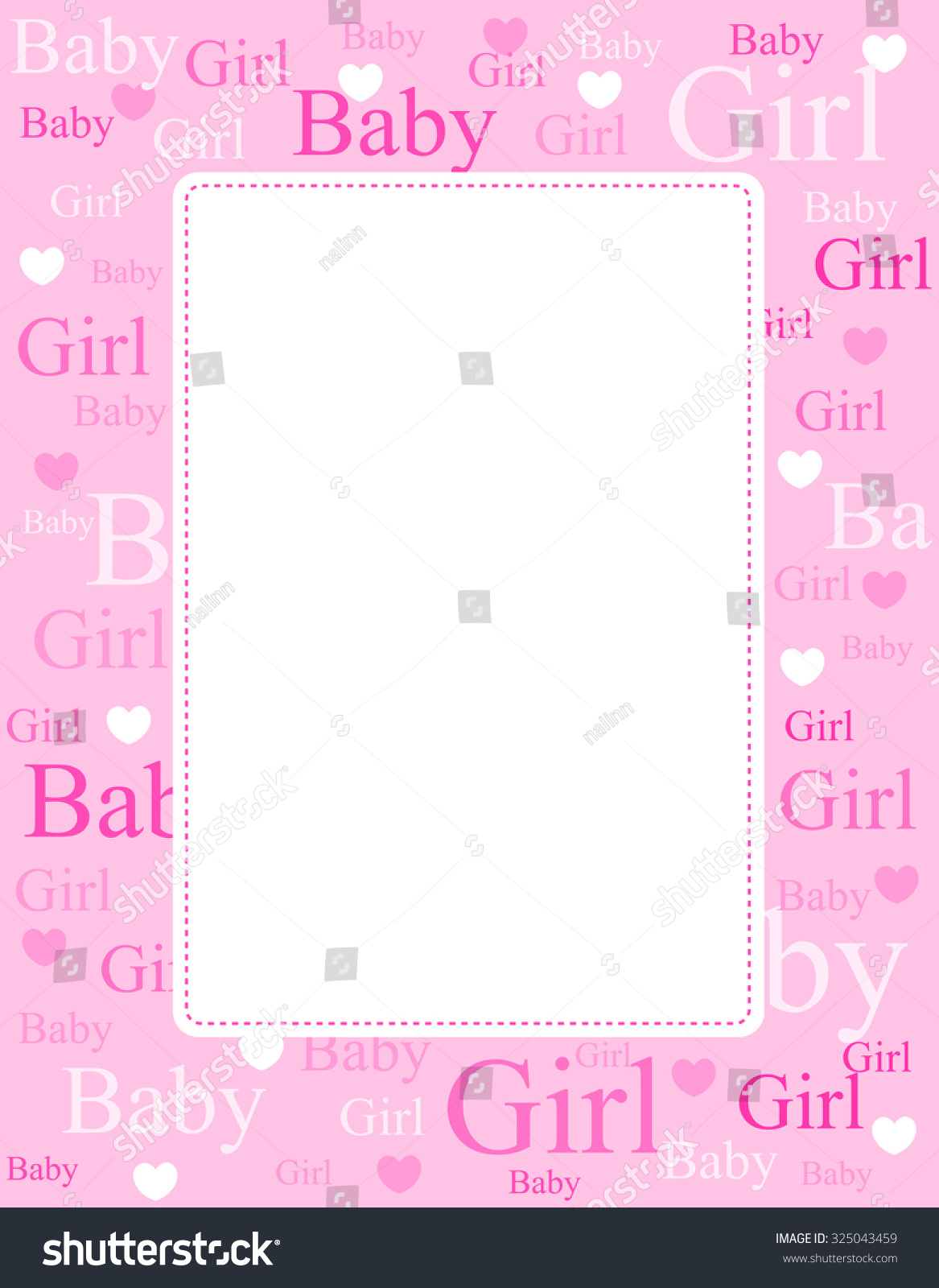 Royalty Free Stock Illustration of Cute Pink Frame Border Baby Girl ...