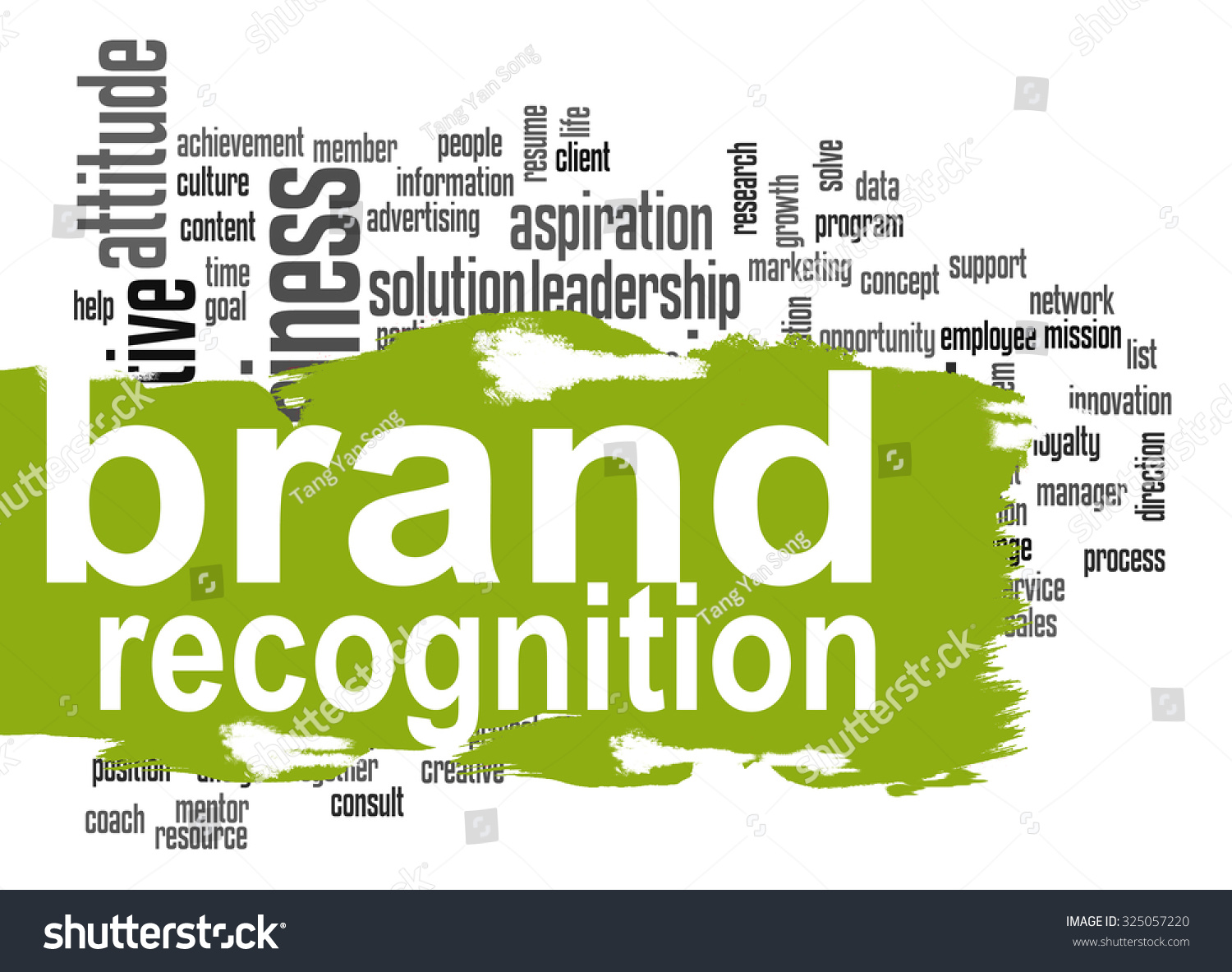 Brand Recognition Word Cloud Green Banner Stock Illustration ...