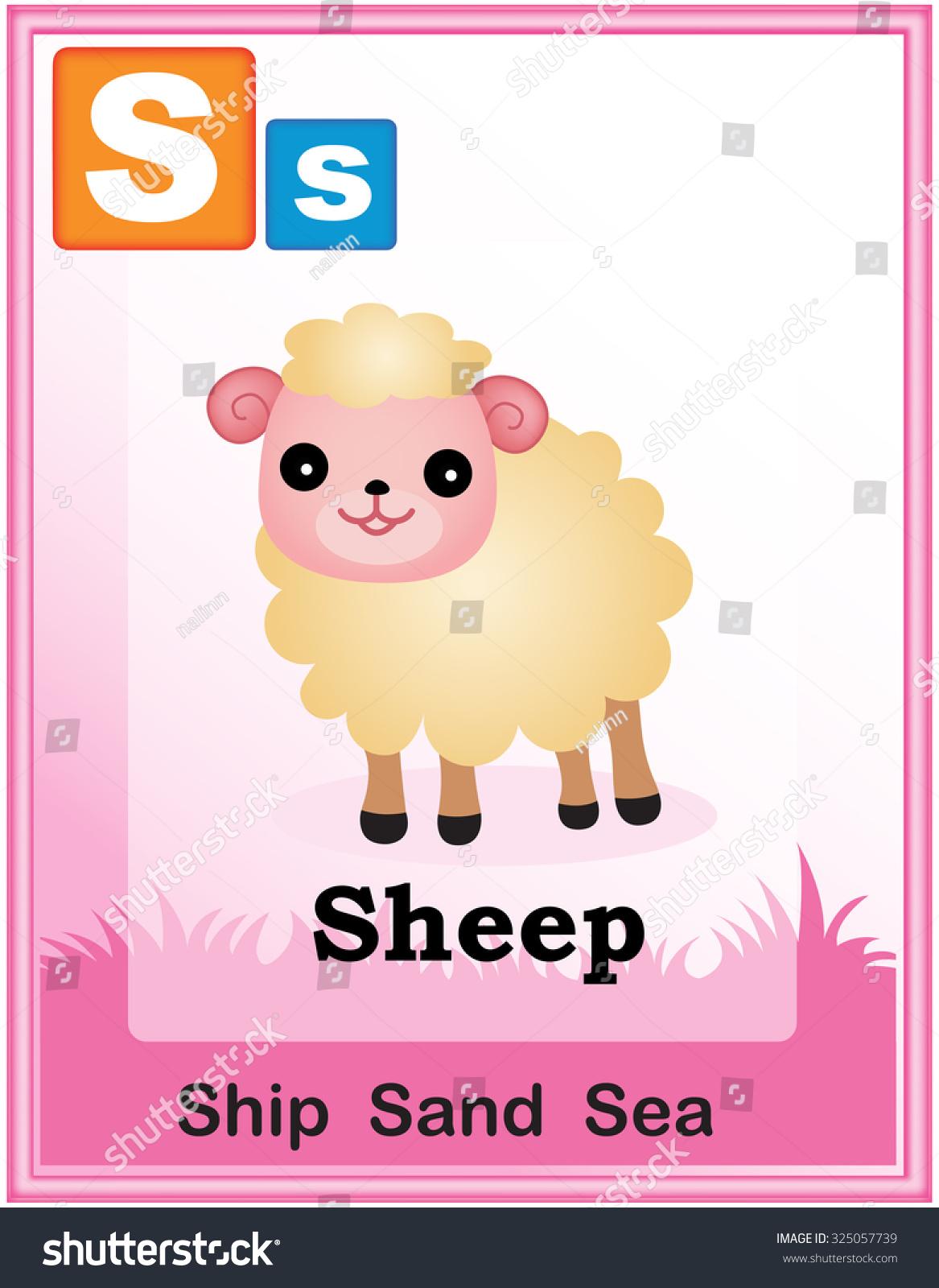 Animal Alphabet Cute Animals Capital Simple Stock Illustration ...