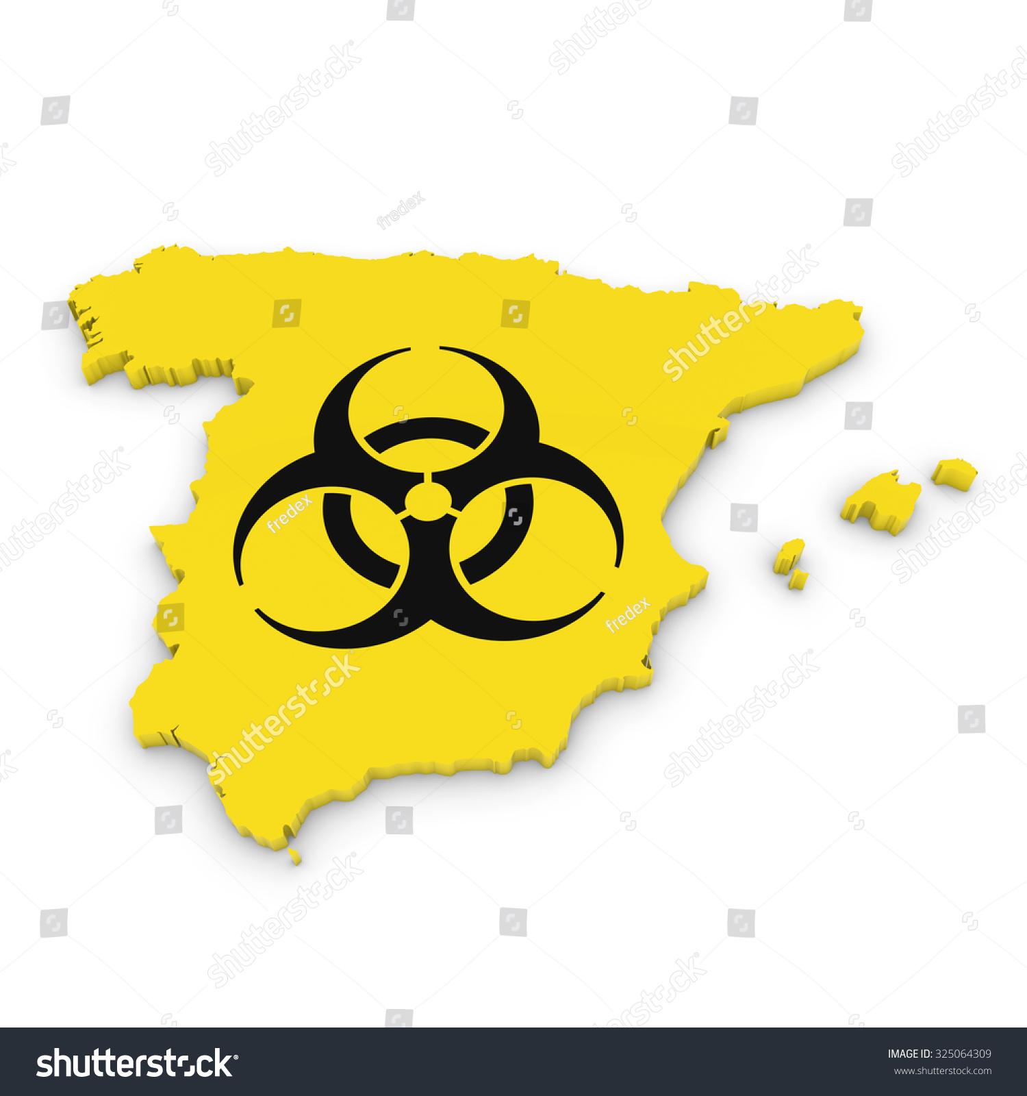 Spanish Biological Hazard Concept Image 3 D Stock Illustration