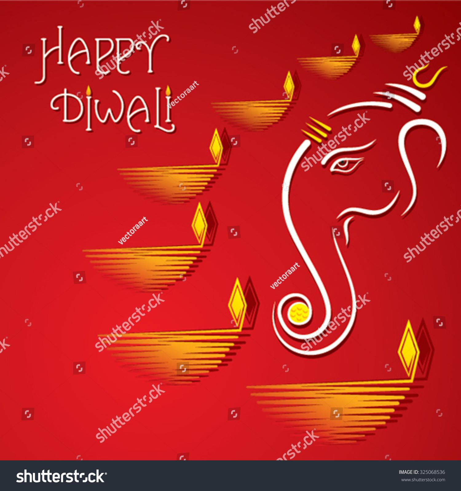 Creative happy diwali greeting design vector ez canvas id 325068536 m4hsunfo