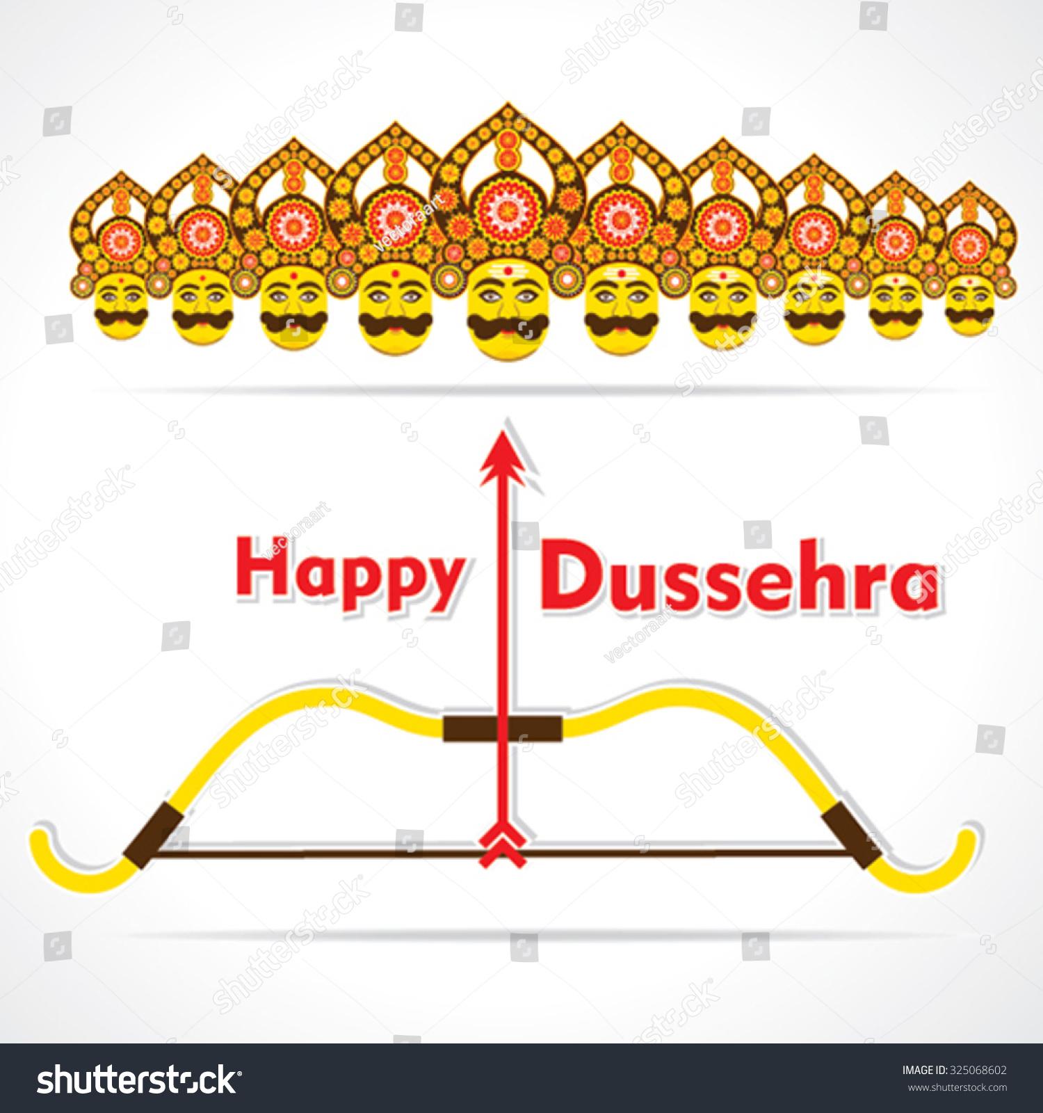 Creative Happy Dussehra Festival Greeting Card Stock Photo Photo