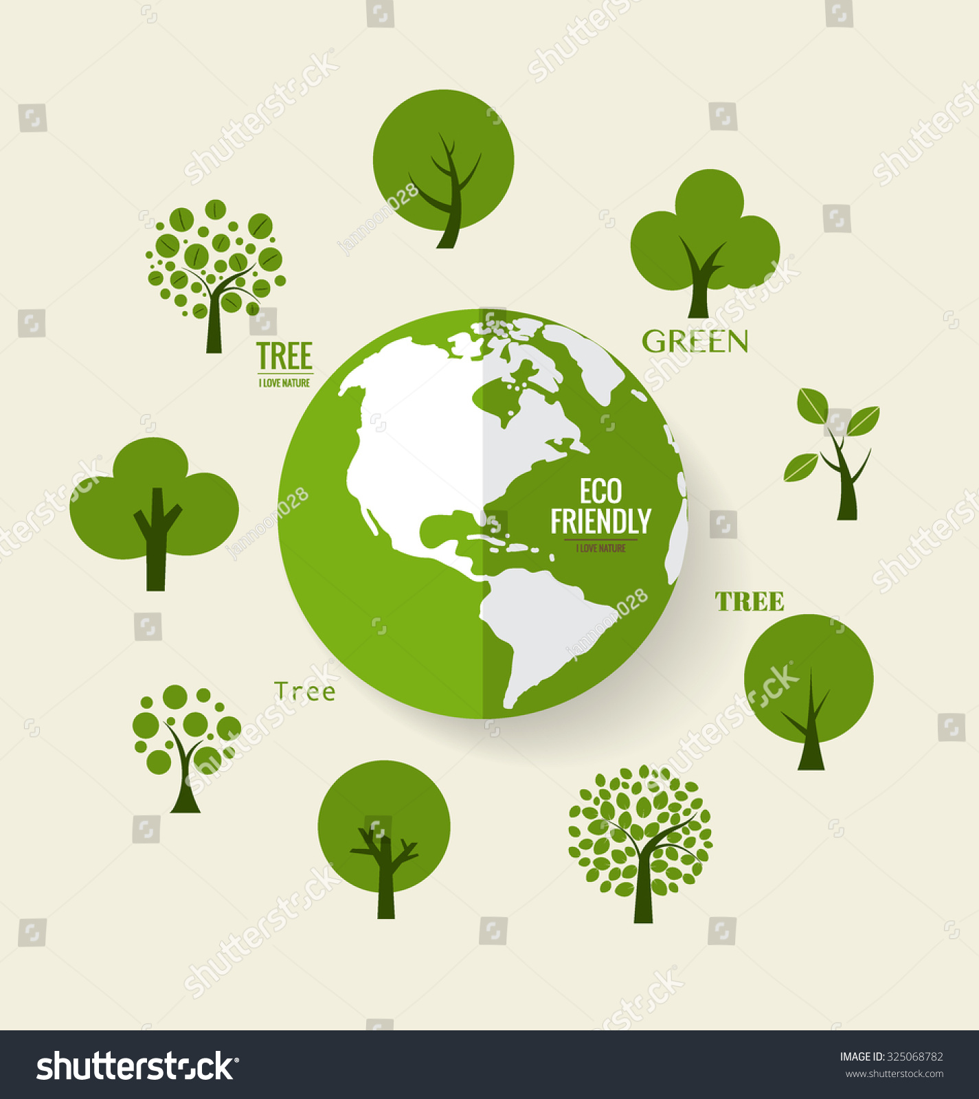 eco friendly ecology concept green eco stock vector 325068782 shutterstock. Black Bedroom Furniture Sets. Home Design Ideas