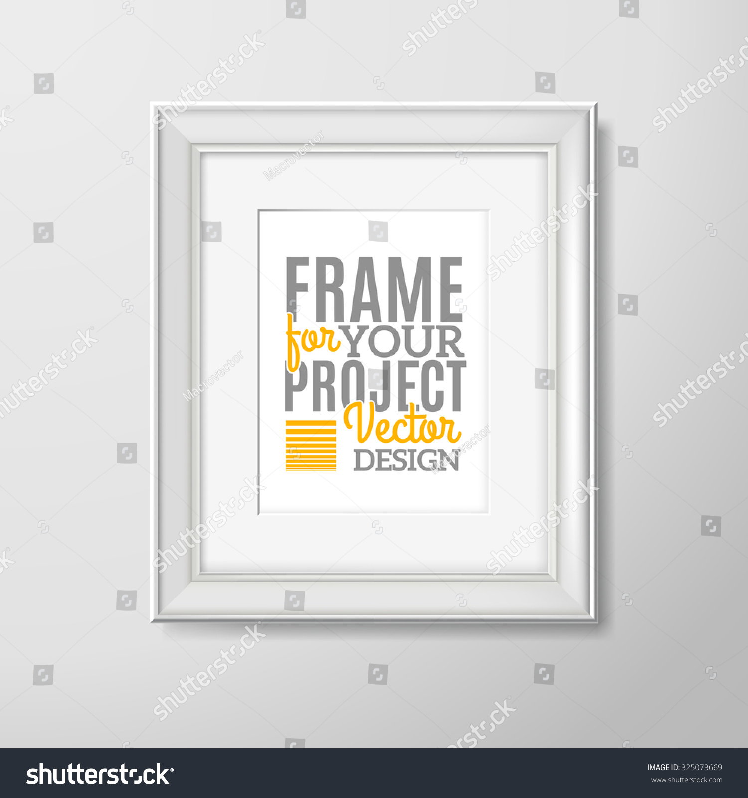 Royalty Free Stock Illustration Of Modern Wooden White Square Wall