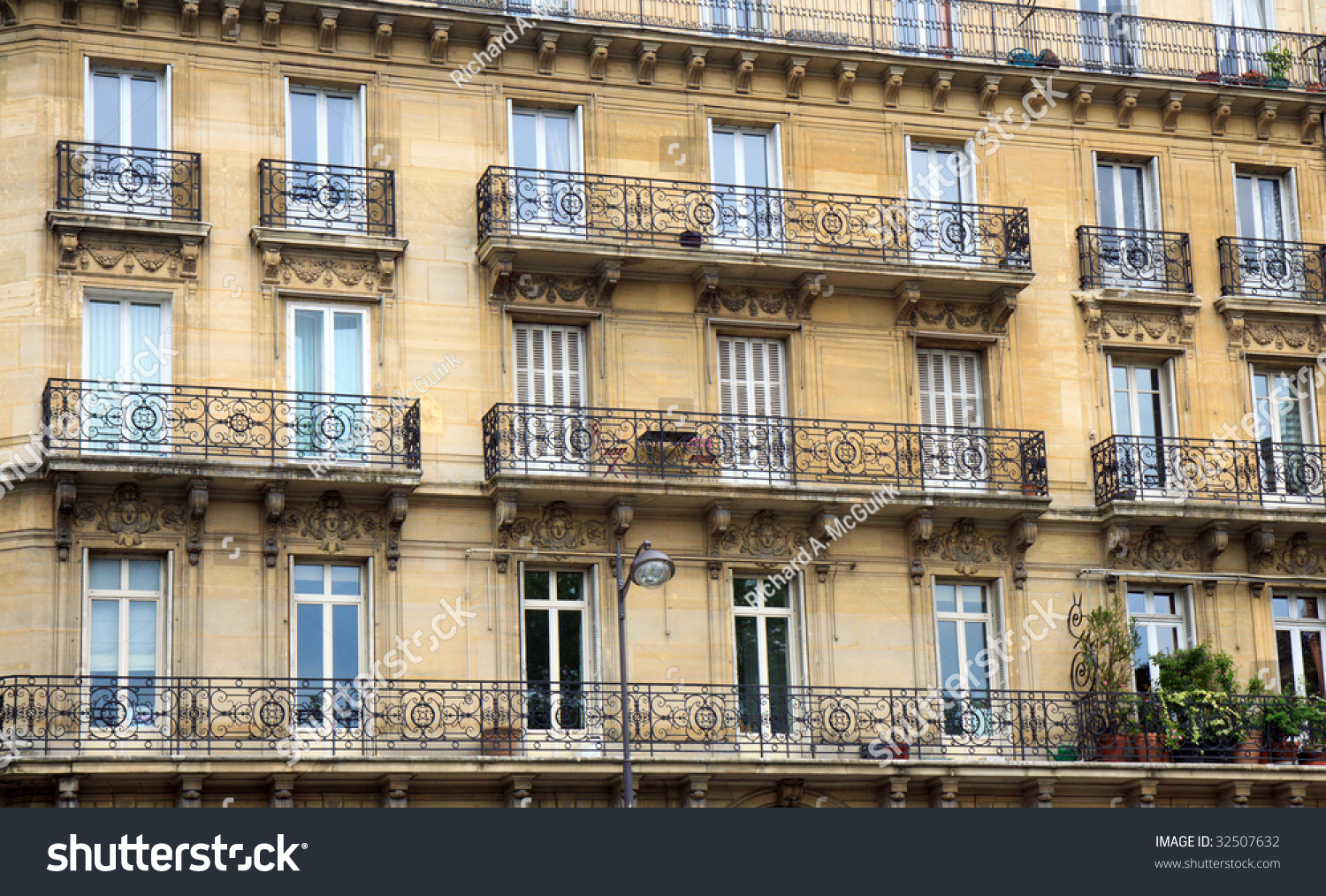 Color DSLR Image Apartment Building Paris Stock Photo (Royalty Free ...