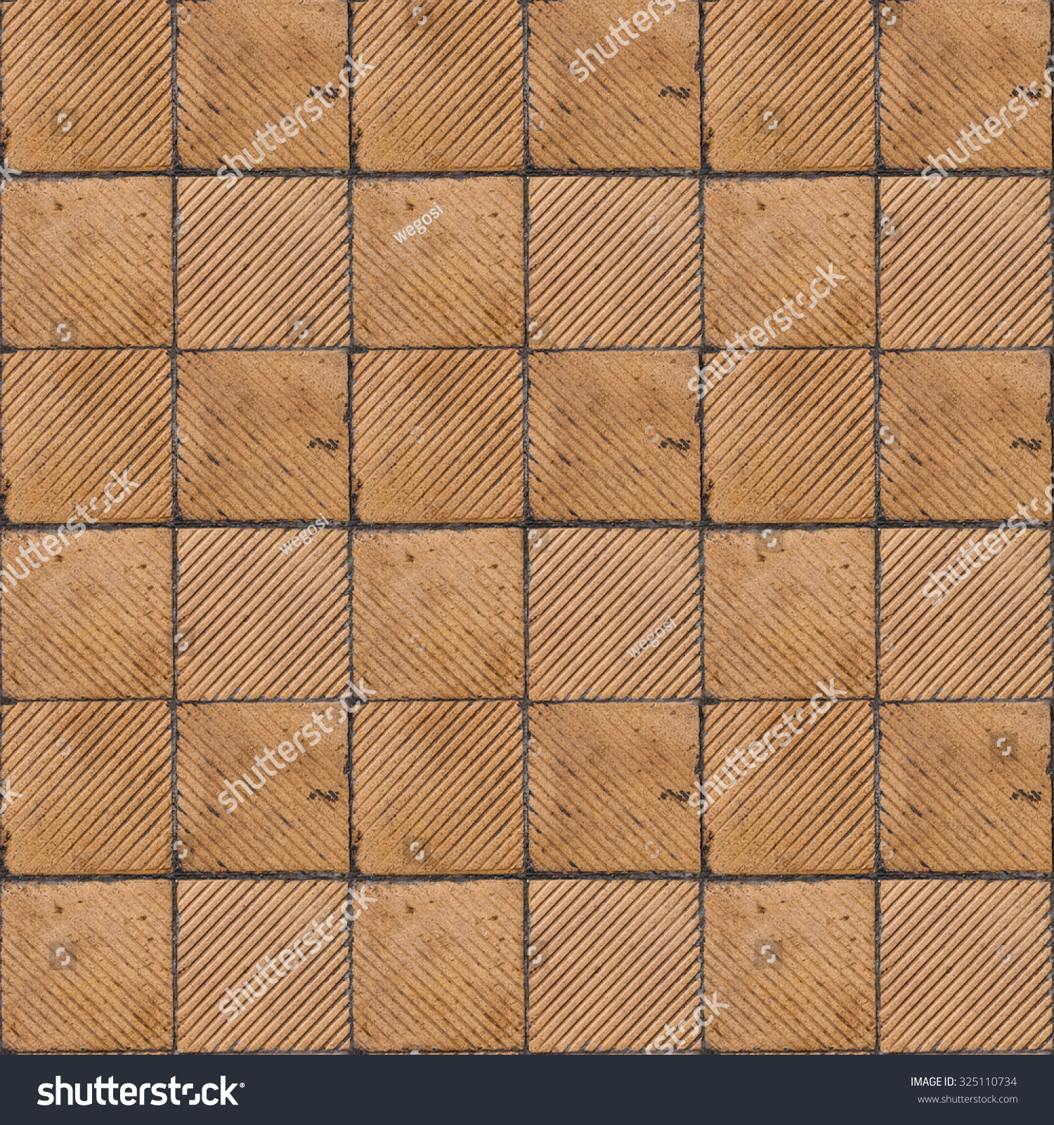 Yellow Ribbed Tile On Floor Wall Stock Photo (Edit Now) 325110734 ...