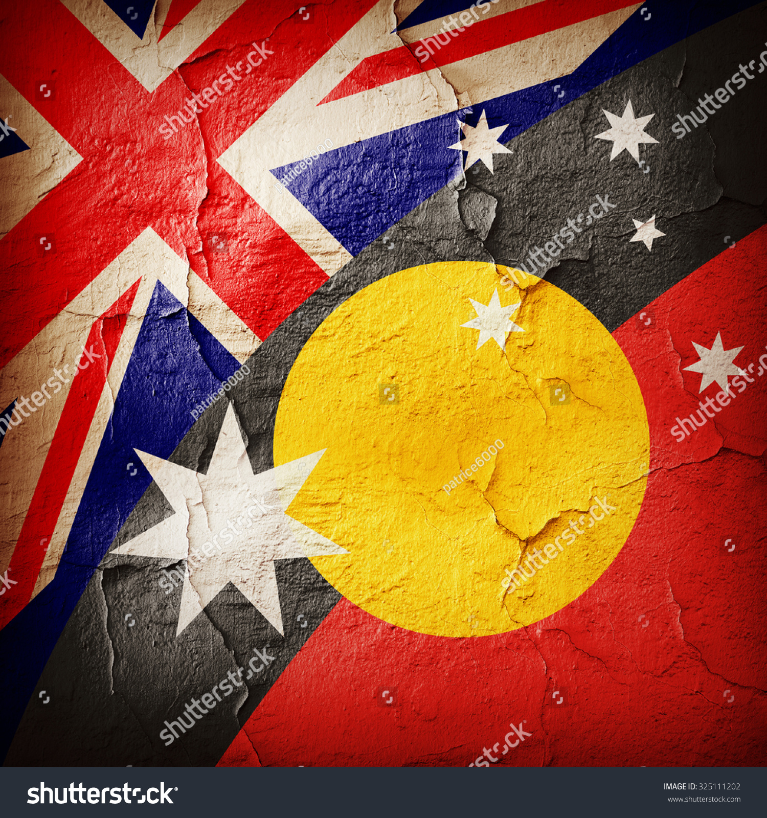 Australia Aboriginal Flags Wall Background Stockillustration ...