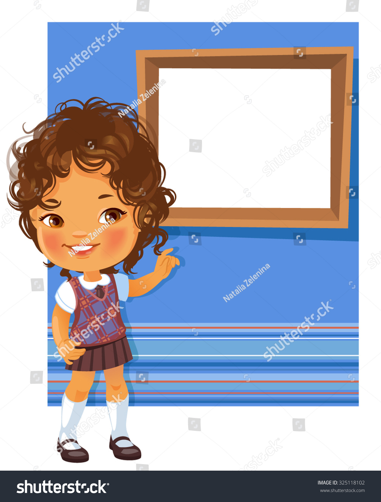 Book Cover School Uniforms : Cute little girl wearing school uniform stock vector