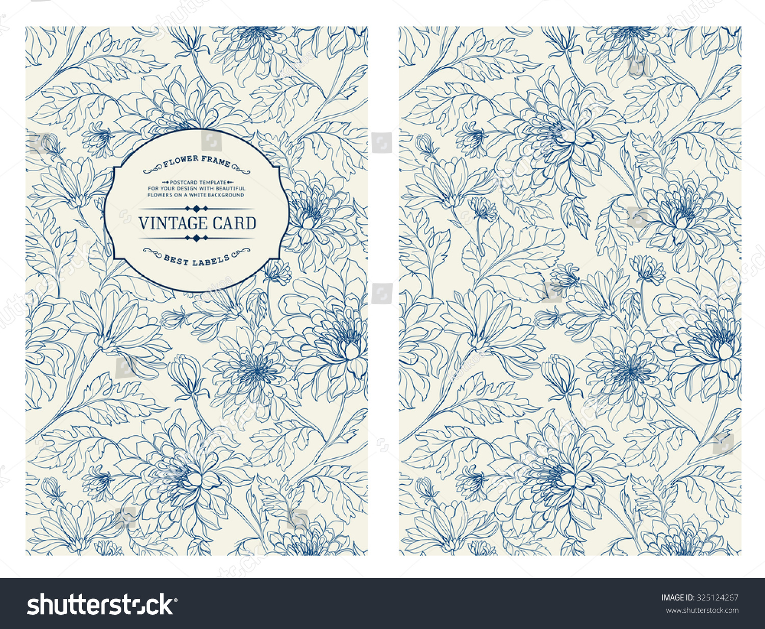 Book Cover Design Flower : Vintage card flowers on background book stock vector