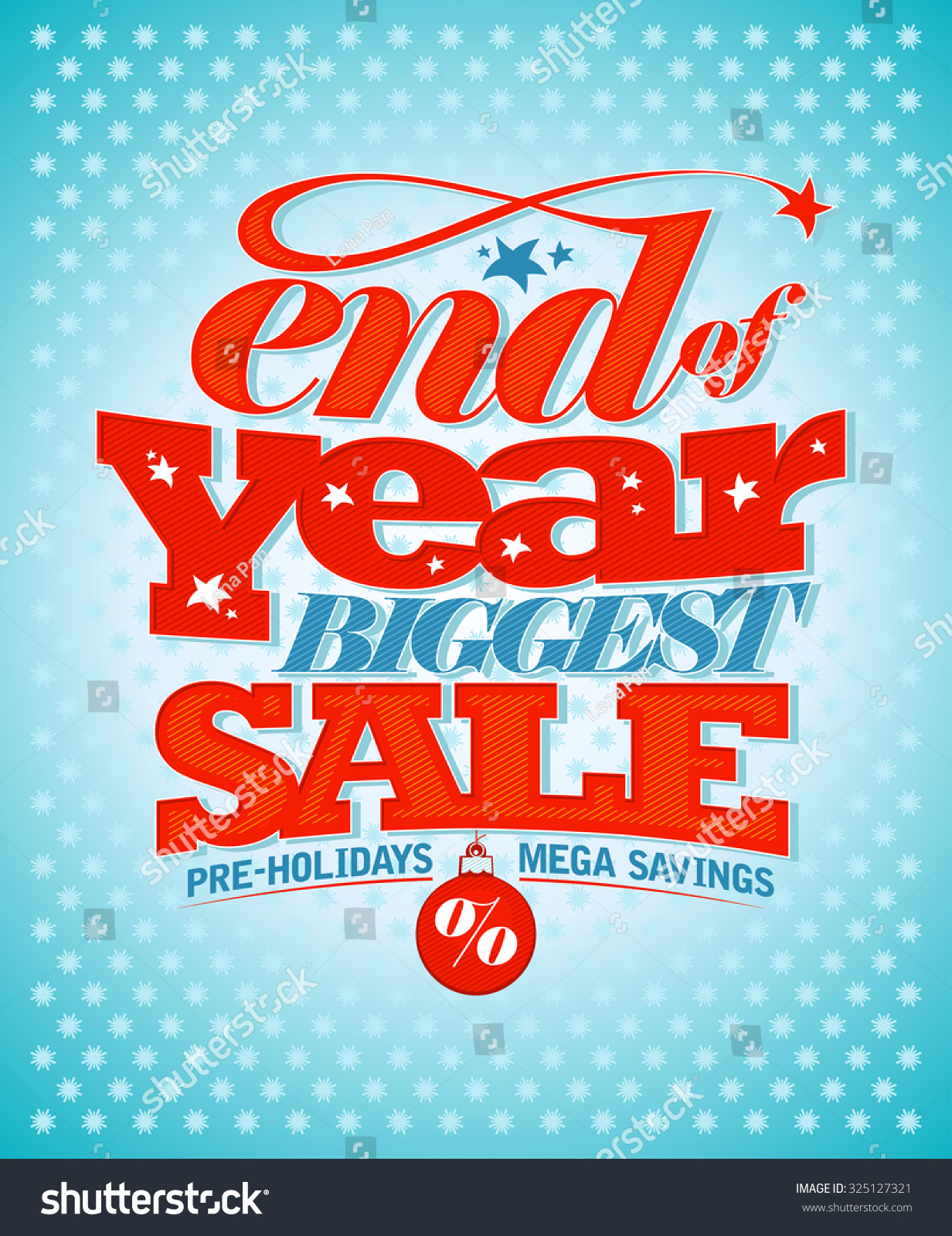 End Of Year Biggest Sale Pre Holidays Mega Savings Banner Design