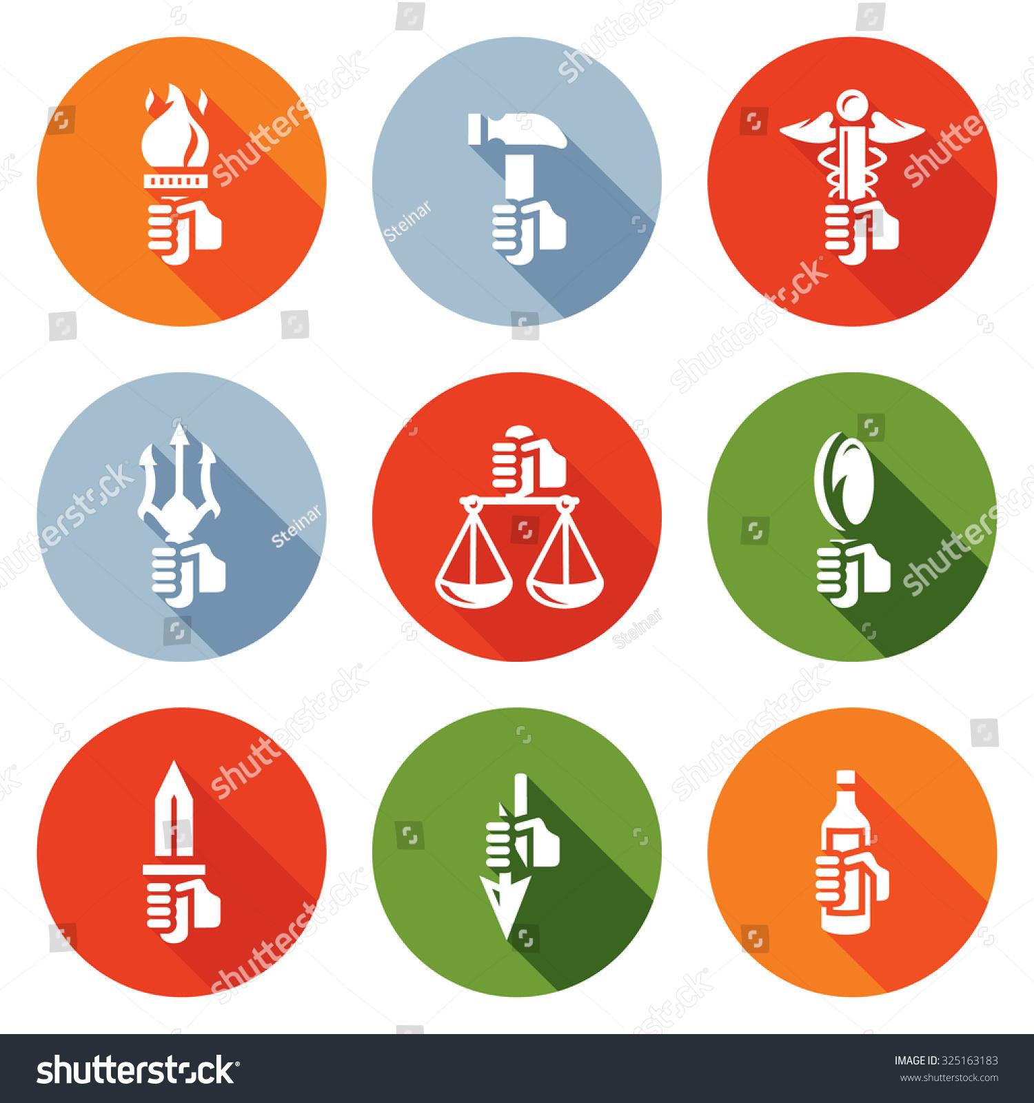 Symbols gods greek mythology icons set stock vector 325163183 symbols of the gods in greek mythology icons set vector illustration biocorpaavc