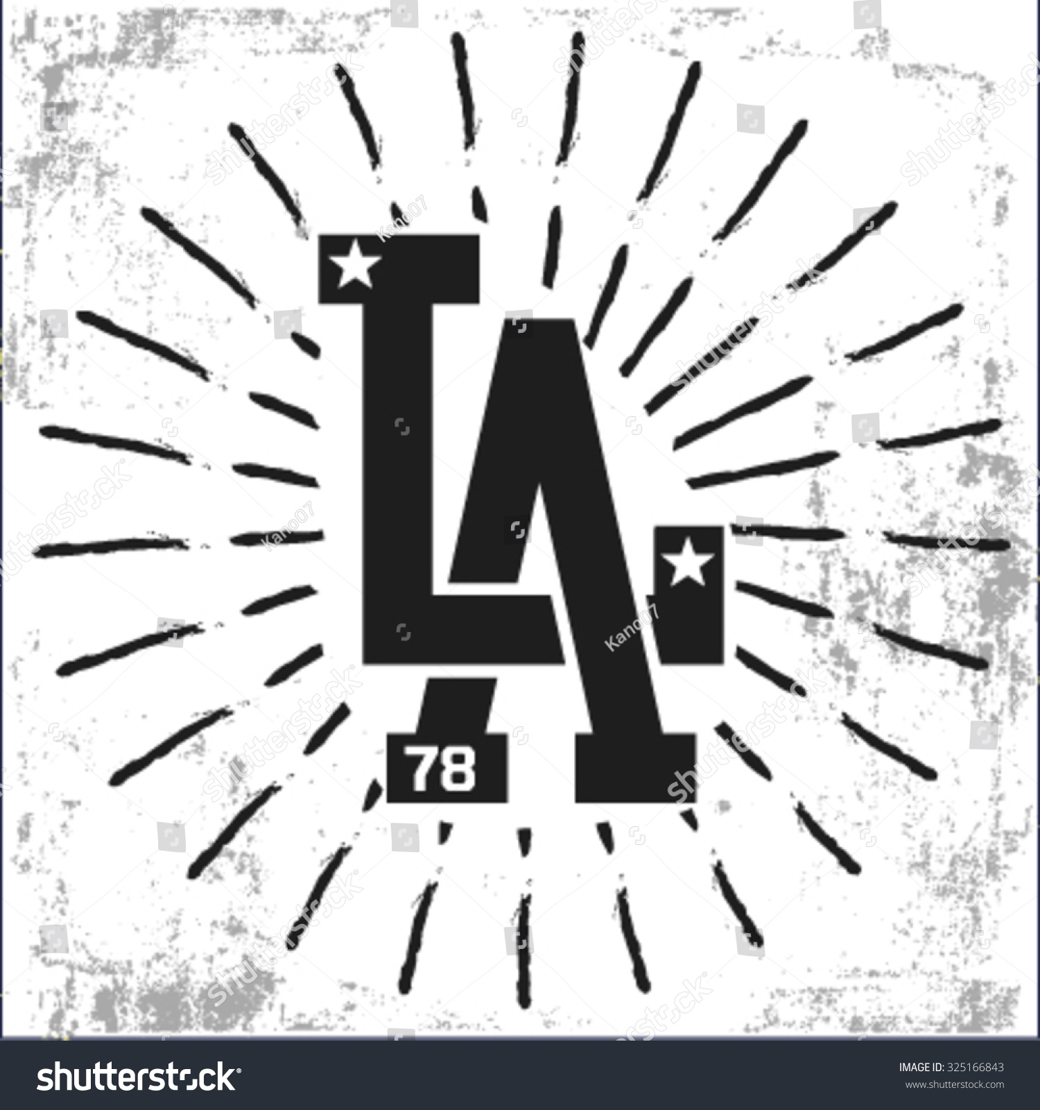 College L.A sport typography t-shirt graphics
