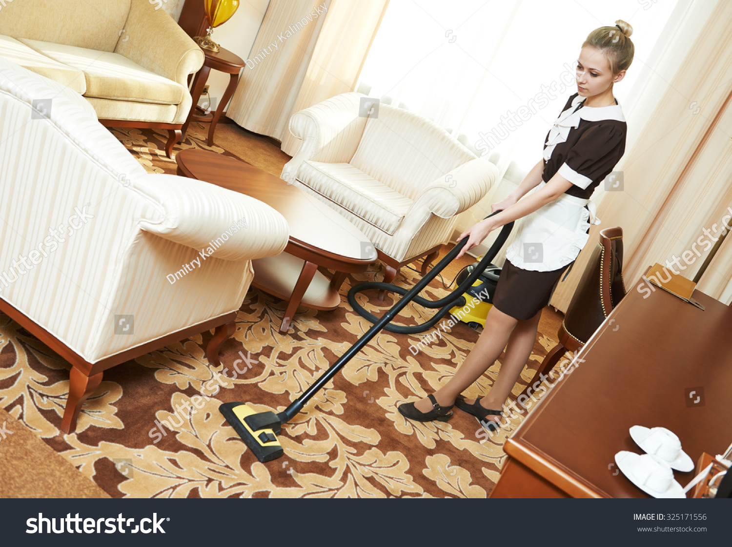 hotel cleaning service female housekeeping worker with