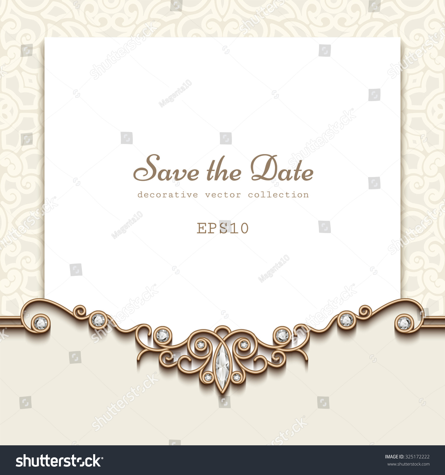 elegant save date card jewelry diamond のベクター画像素材
