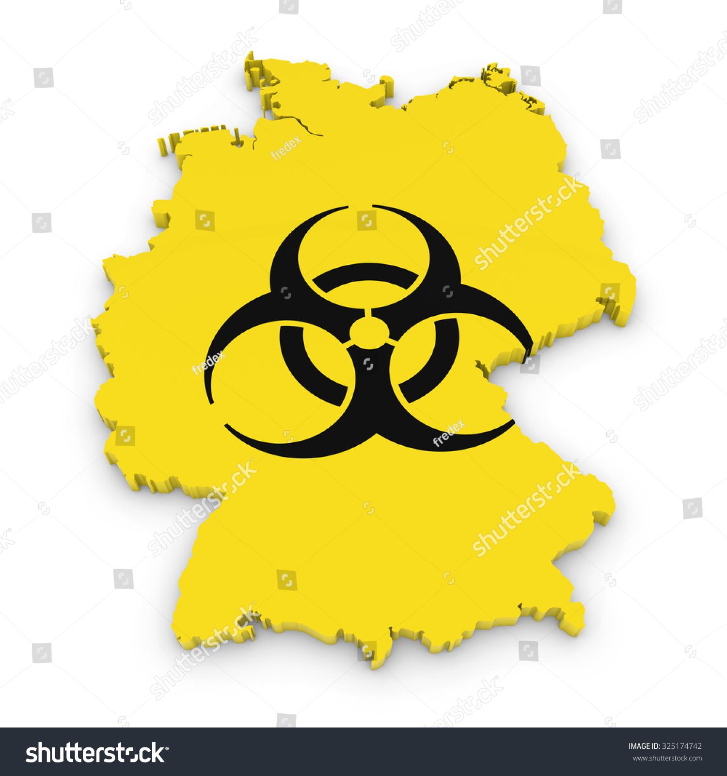 German Biological Hazard Concept Image 3 D Stock Illustration