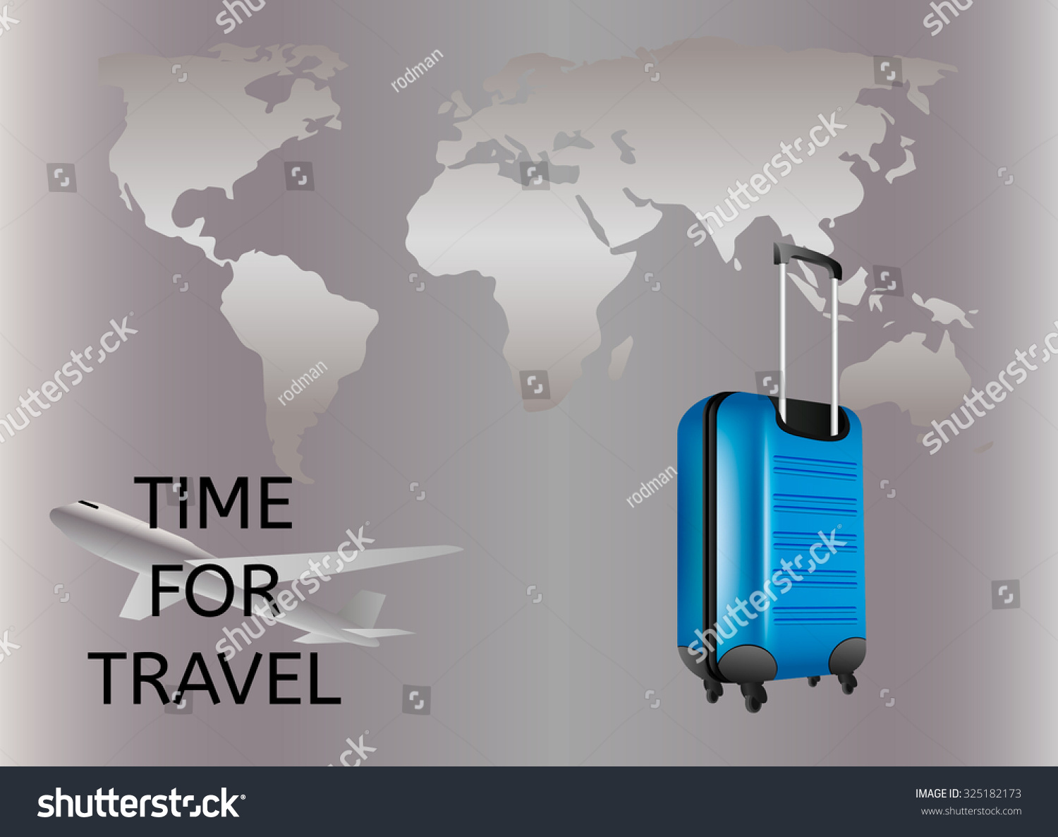 Travel bag world map stock vector 325182173 shutterstock travel bag and world map gumiabroncs Images
