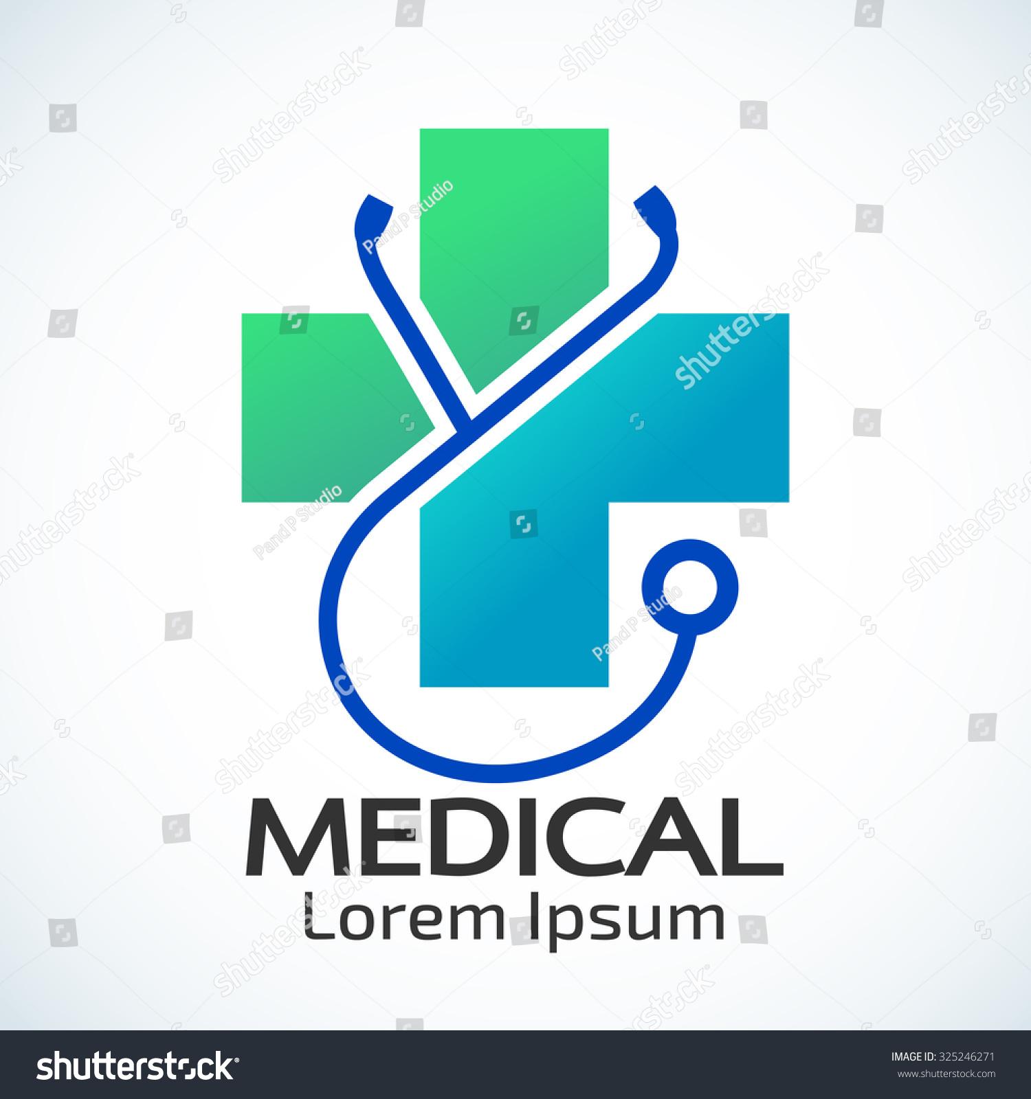 medical pharmacy logo design template vector illustrator